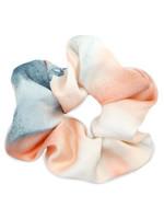 haarelastiek silky Peach-blue