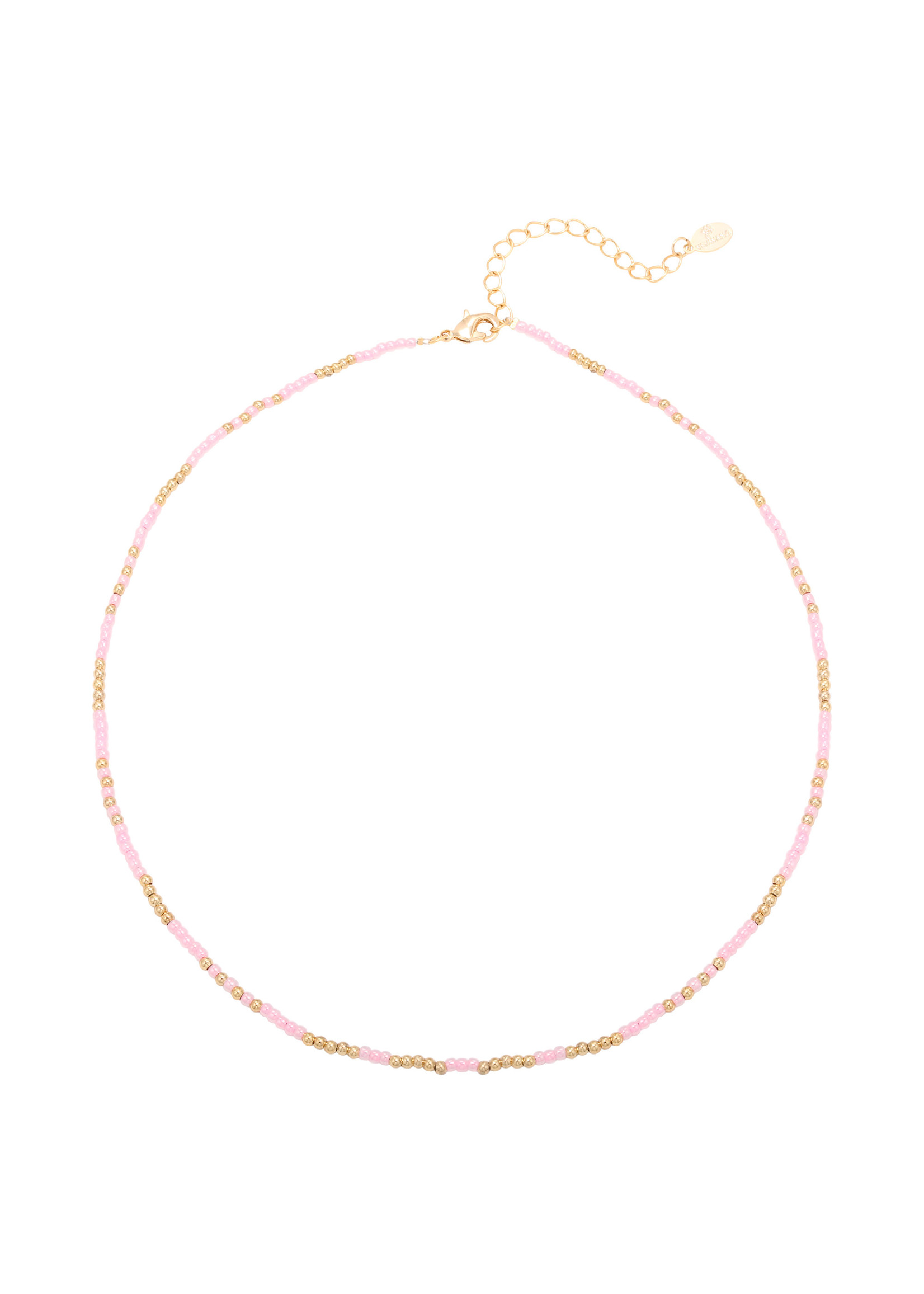 Ketting Mystic Beads pink