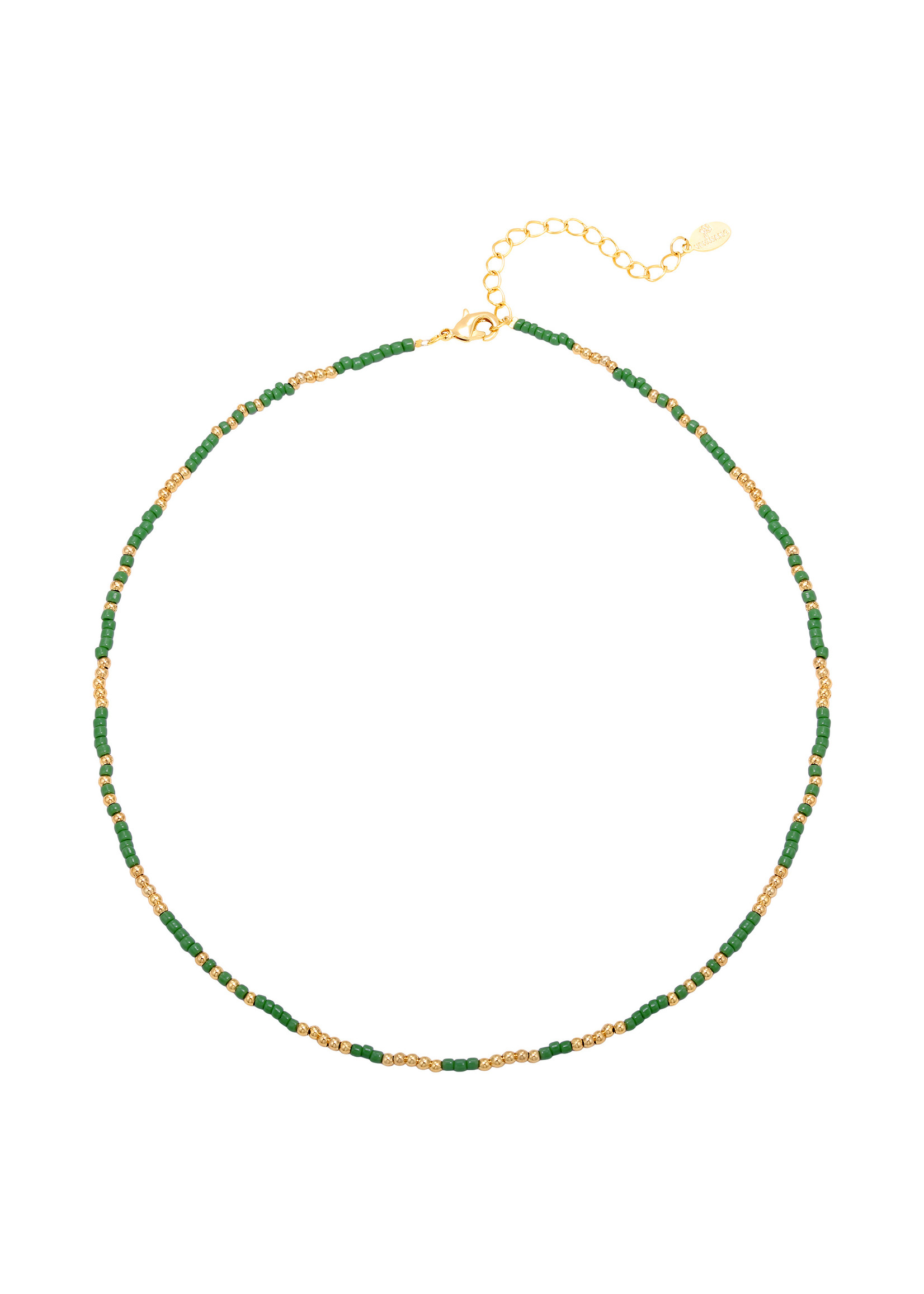 Ketting mystic beads green