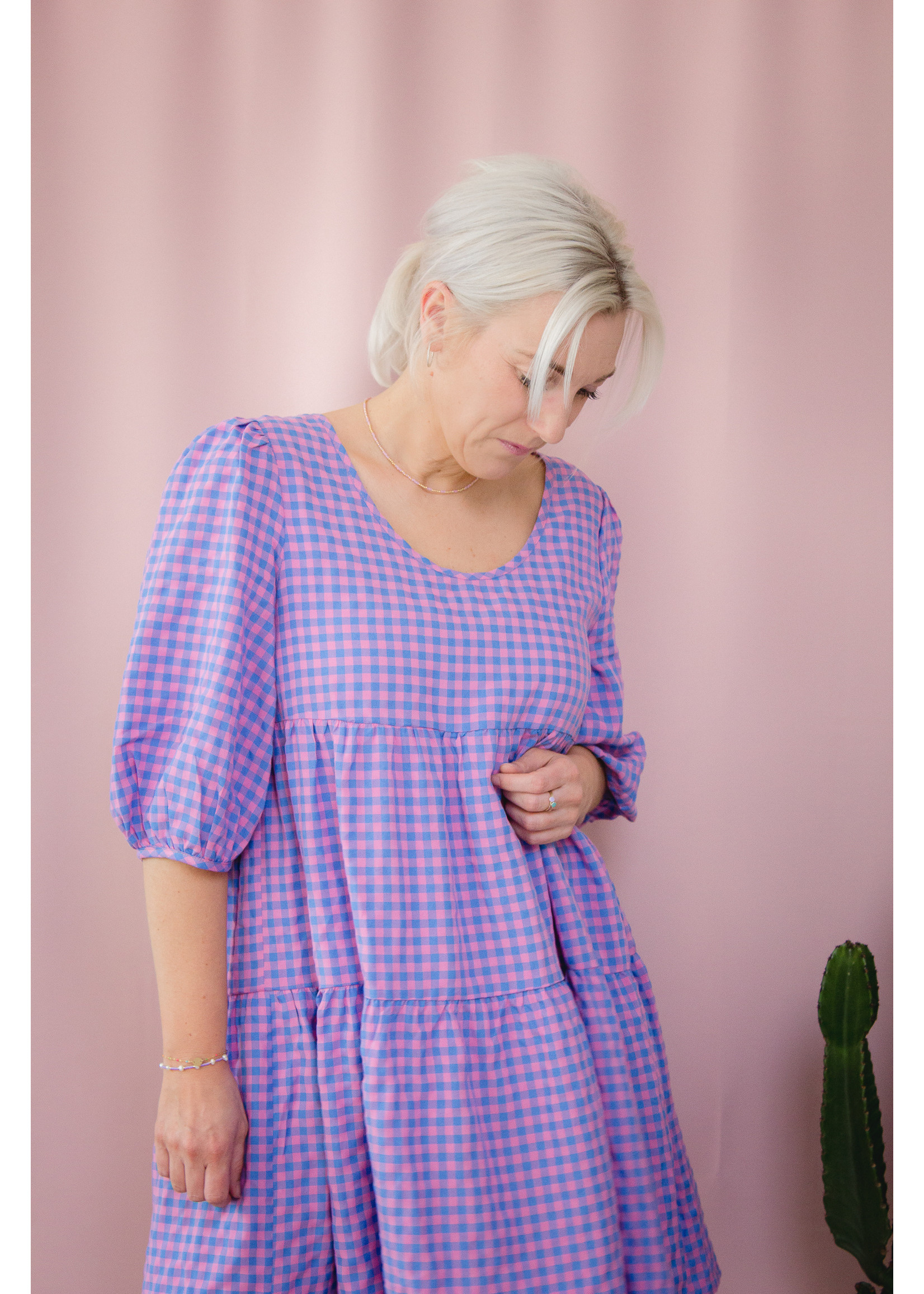 Ydence Dress pink check