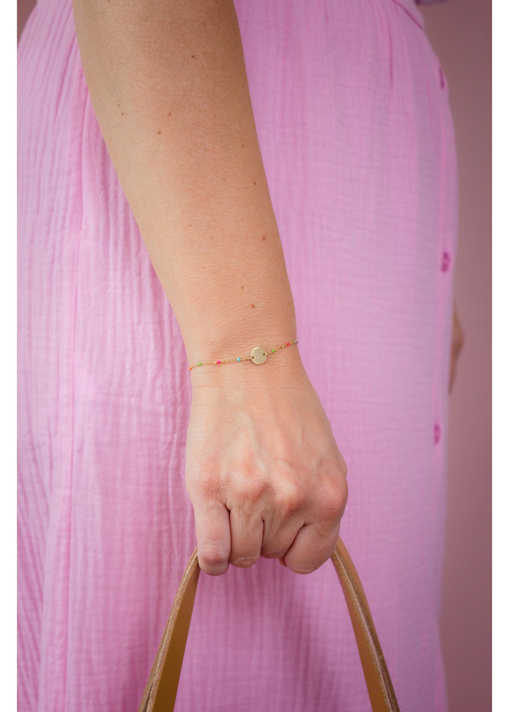 armband muntje regenboog Goud-multicolour