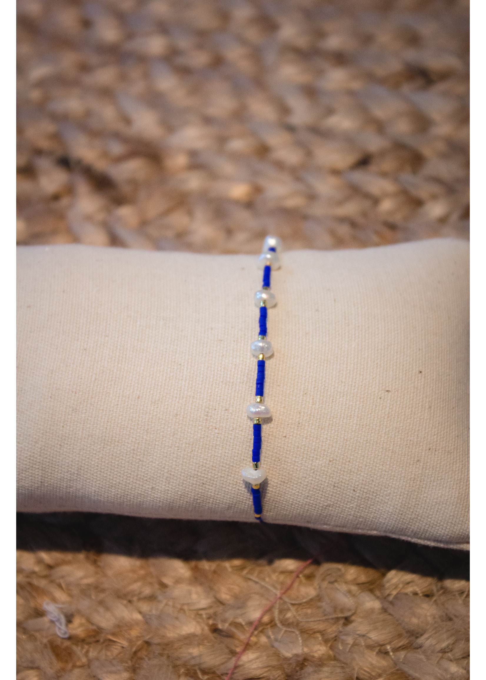 Trendy armbanden pearl Miyuki Classic blue