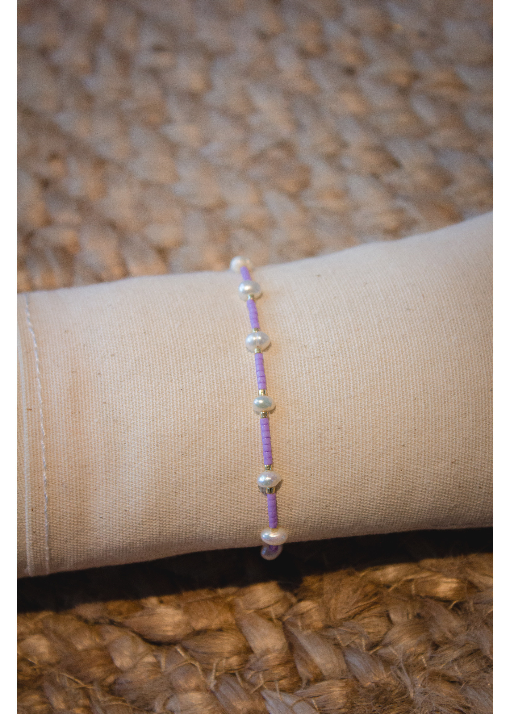 Trendy armbanden pearl Miyuki Lilac purple