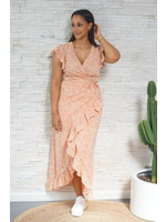 Lofty Manner Dress maxi peach Felisa