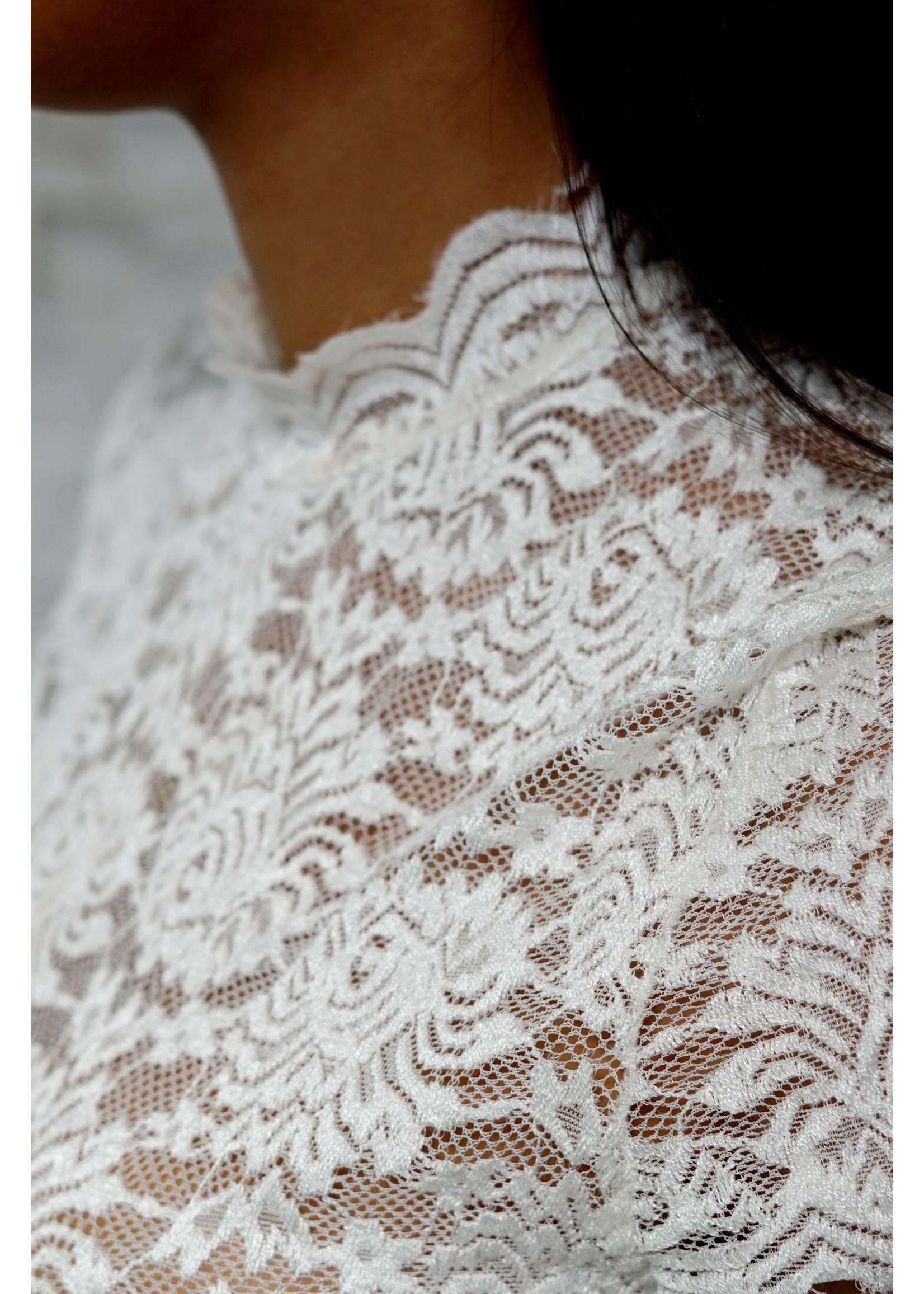 Lofty Manner See through top white