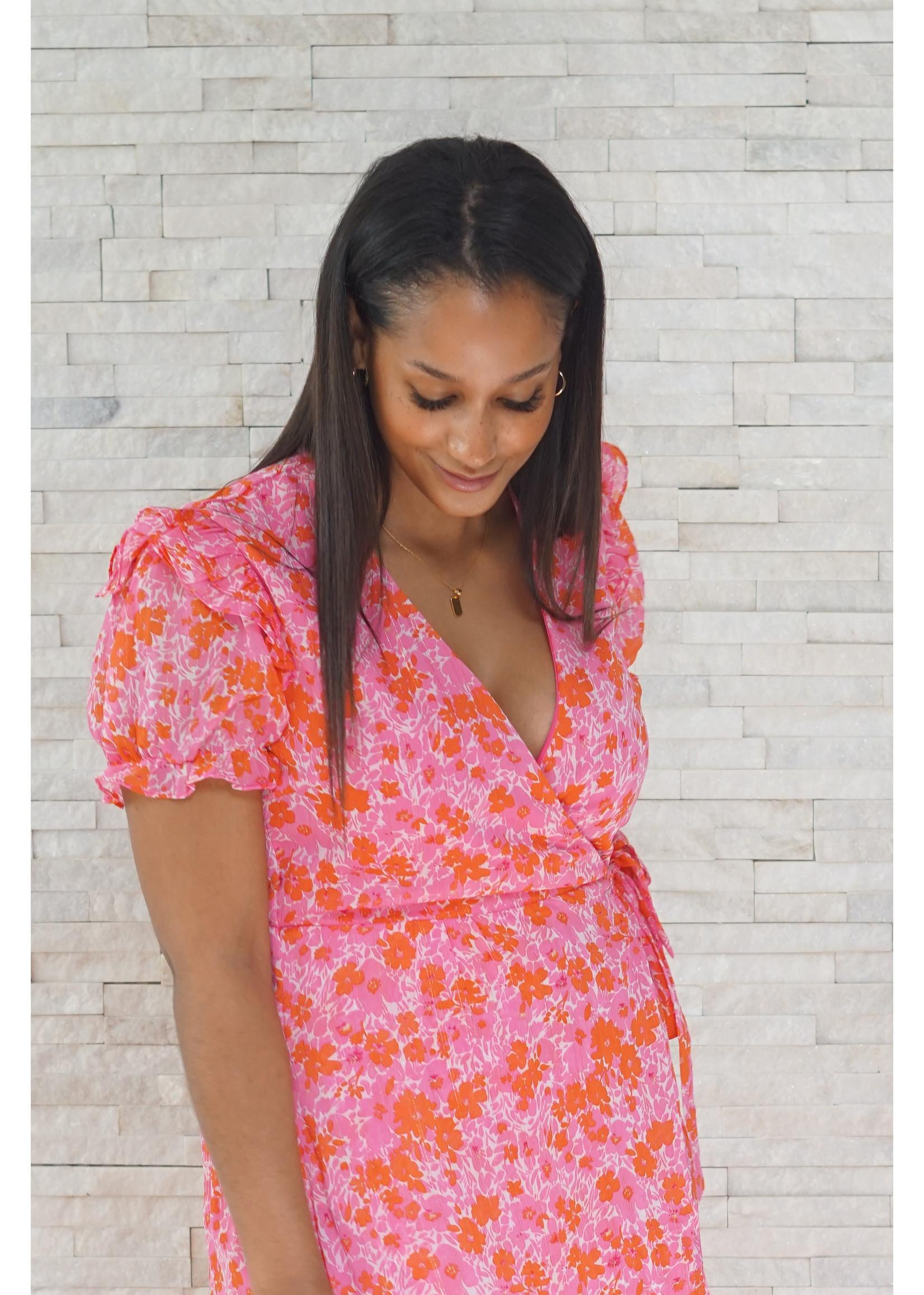Dress Flower pink/orange