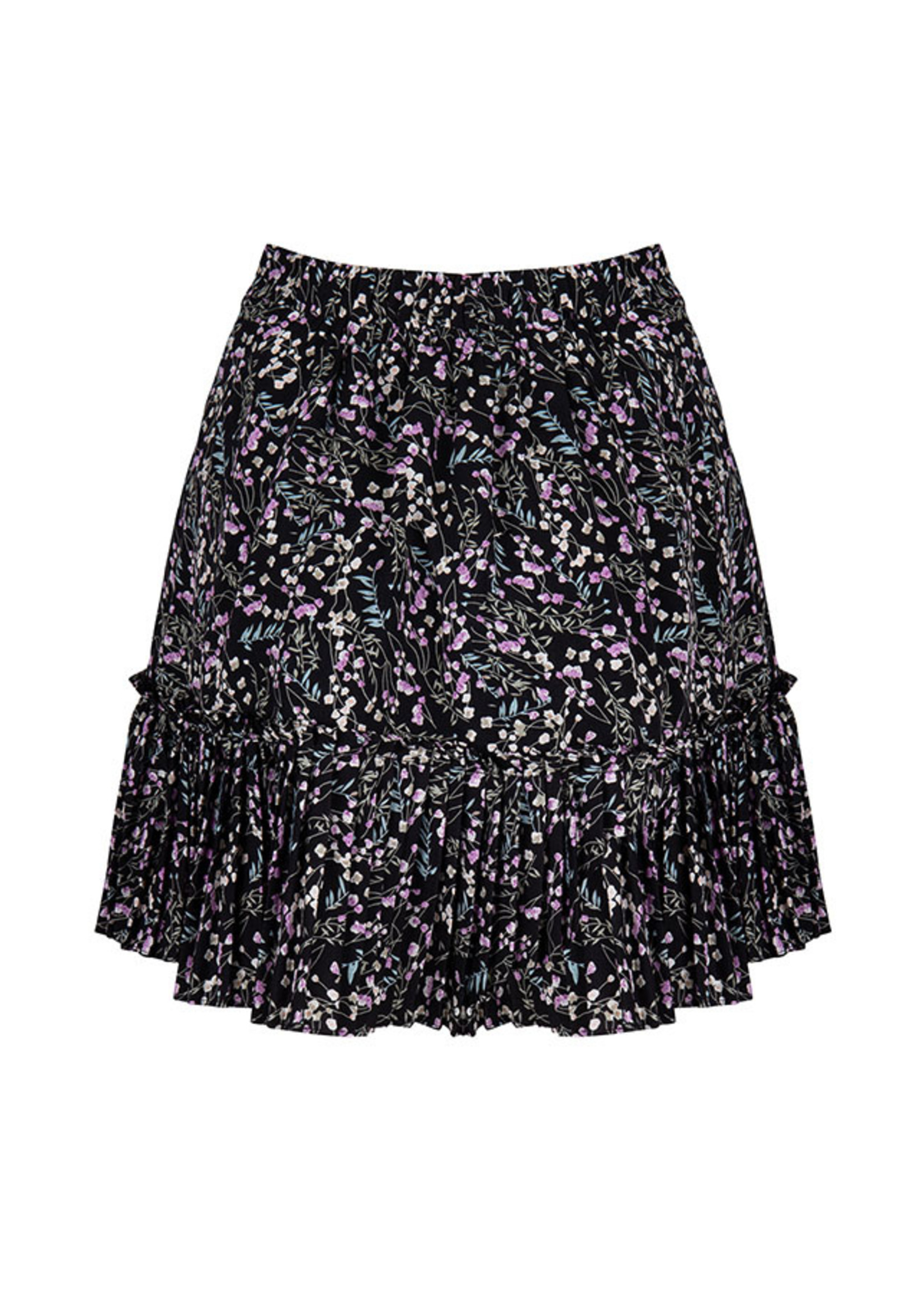Lofty Manner Skirt black flowers