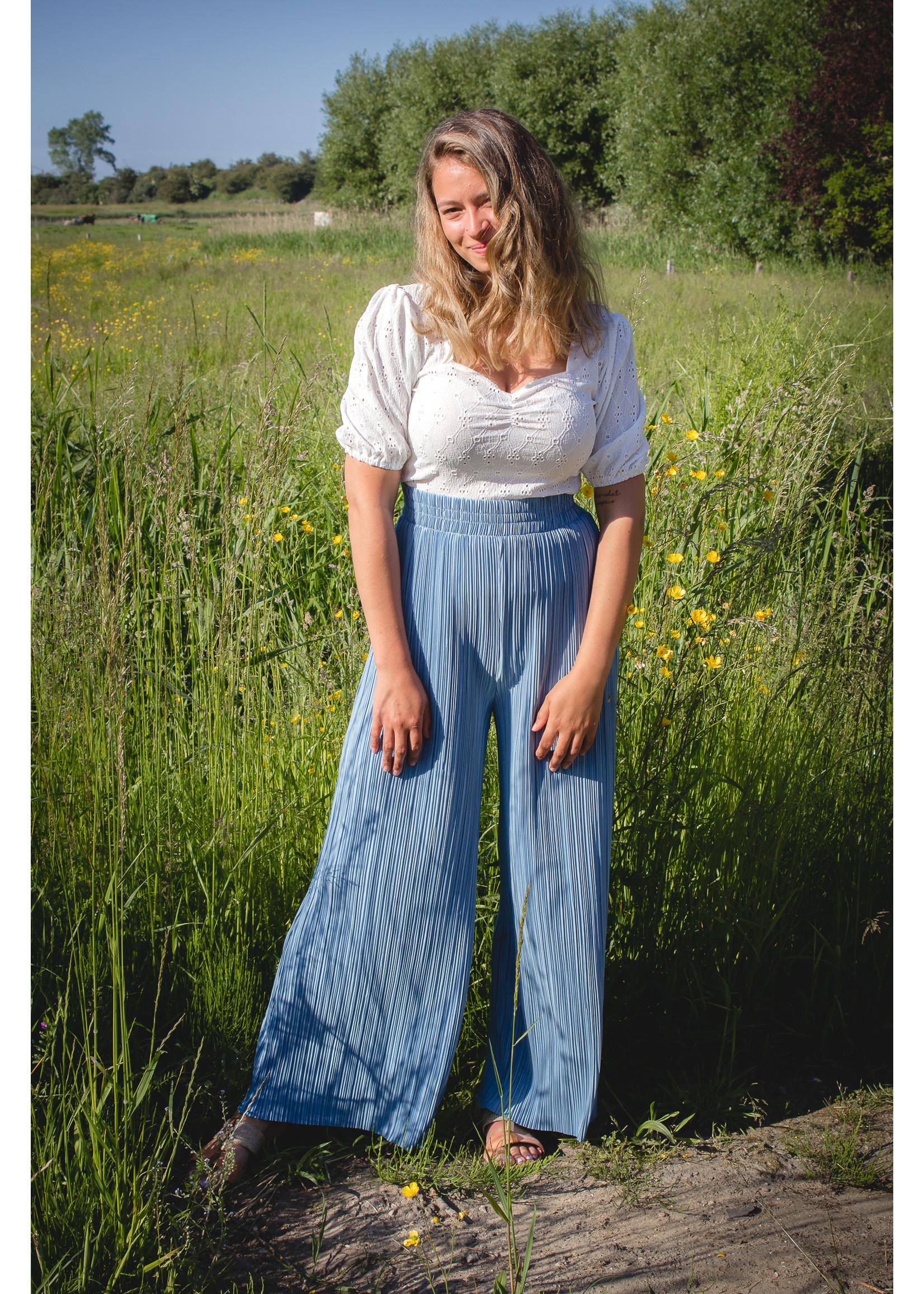 24colours Pants summer blue