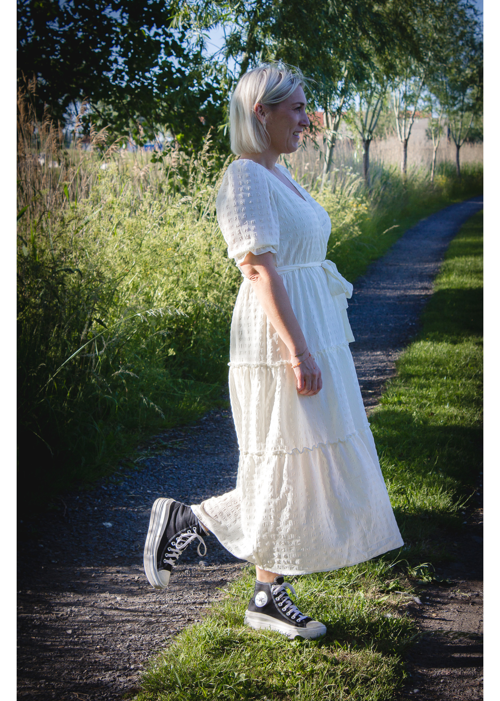 24colours Dress summer off white