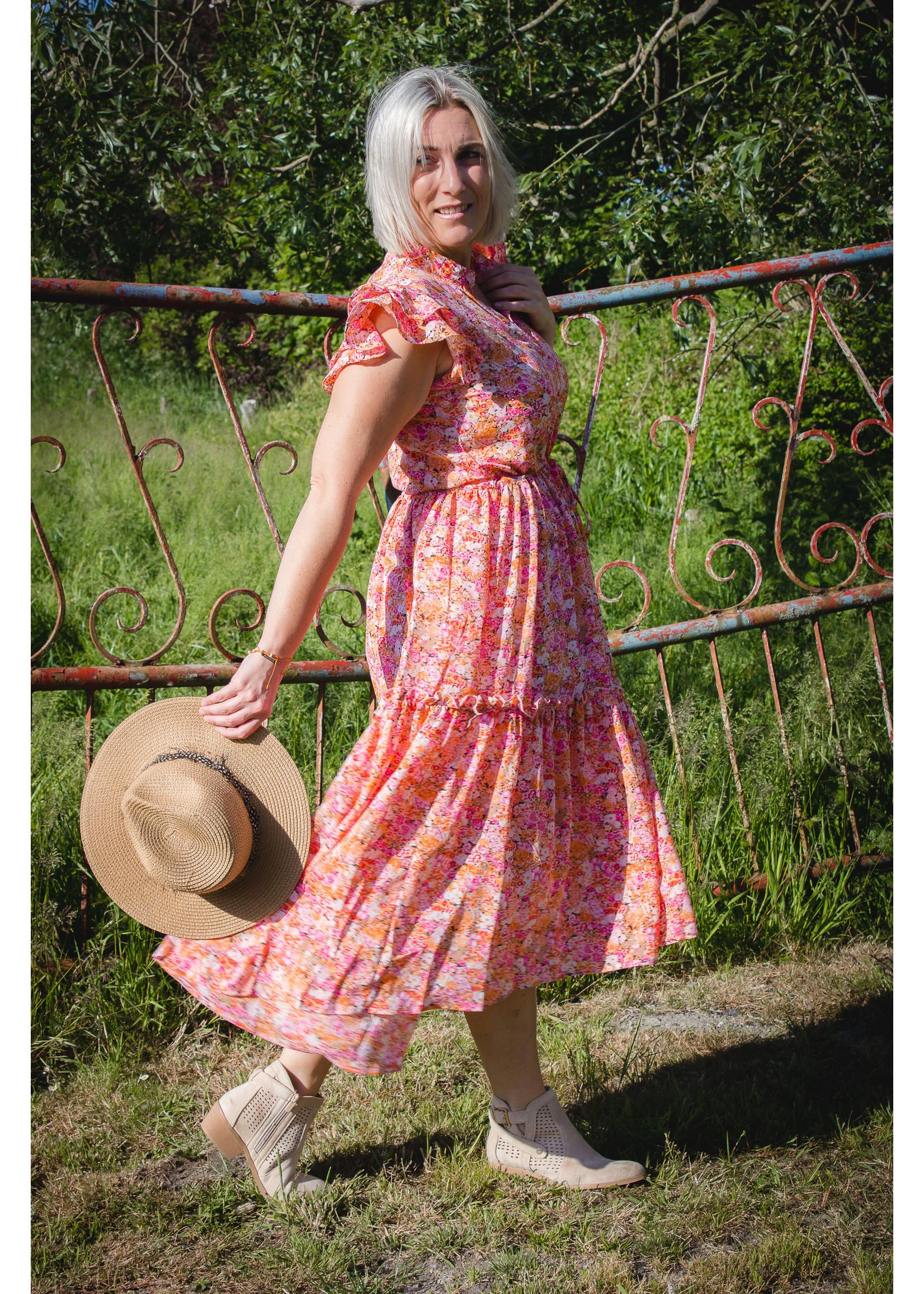 Dress Olivia orange/pink