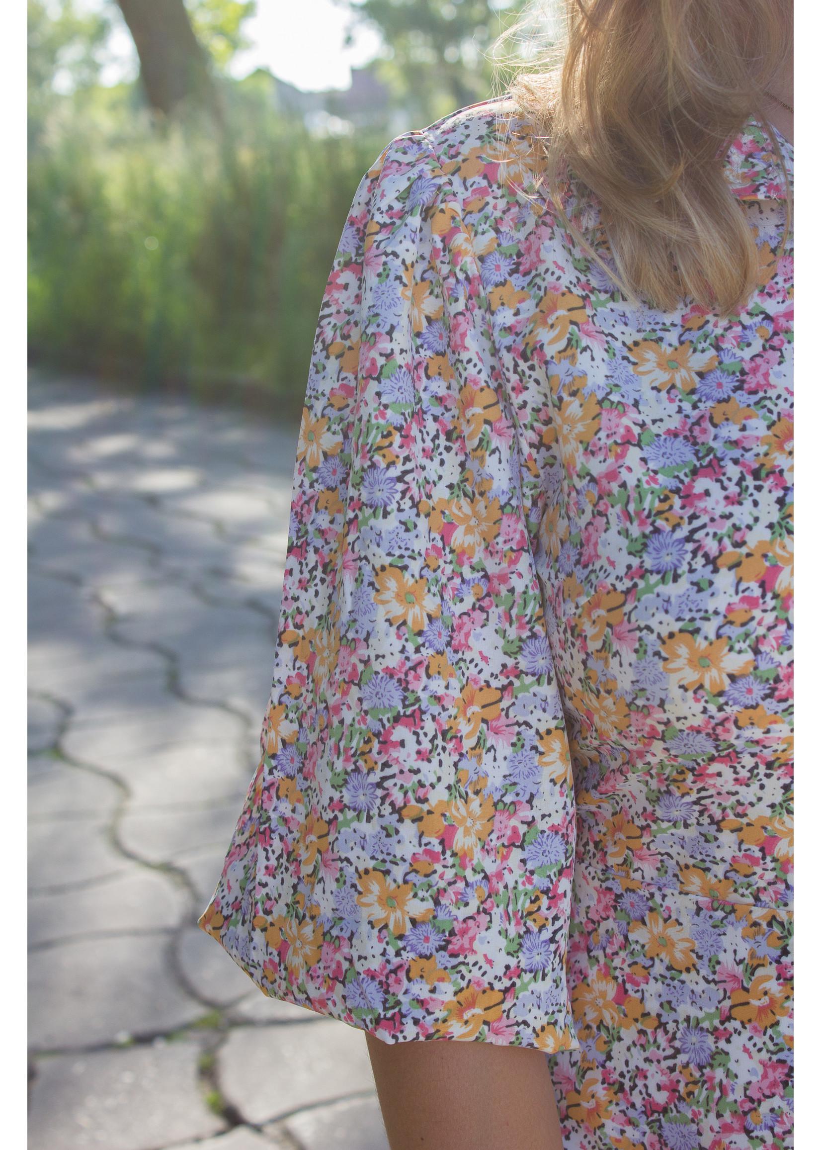 Lofty Manner Dress yellow multiflower print