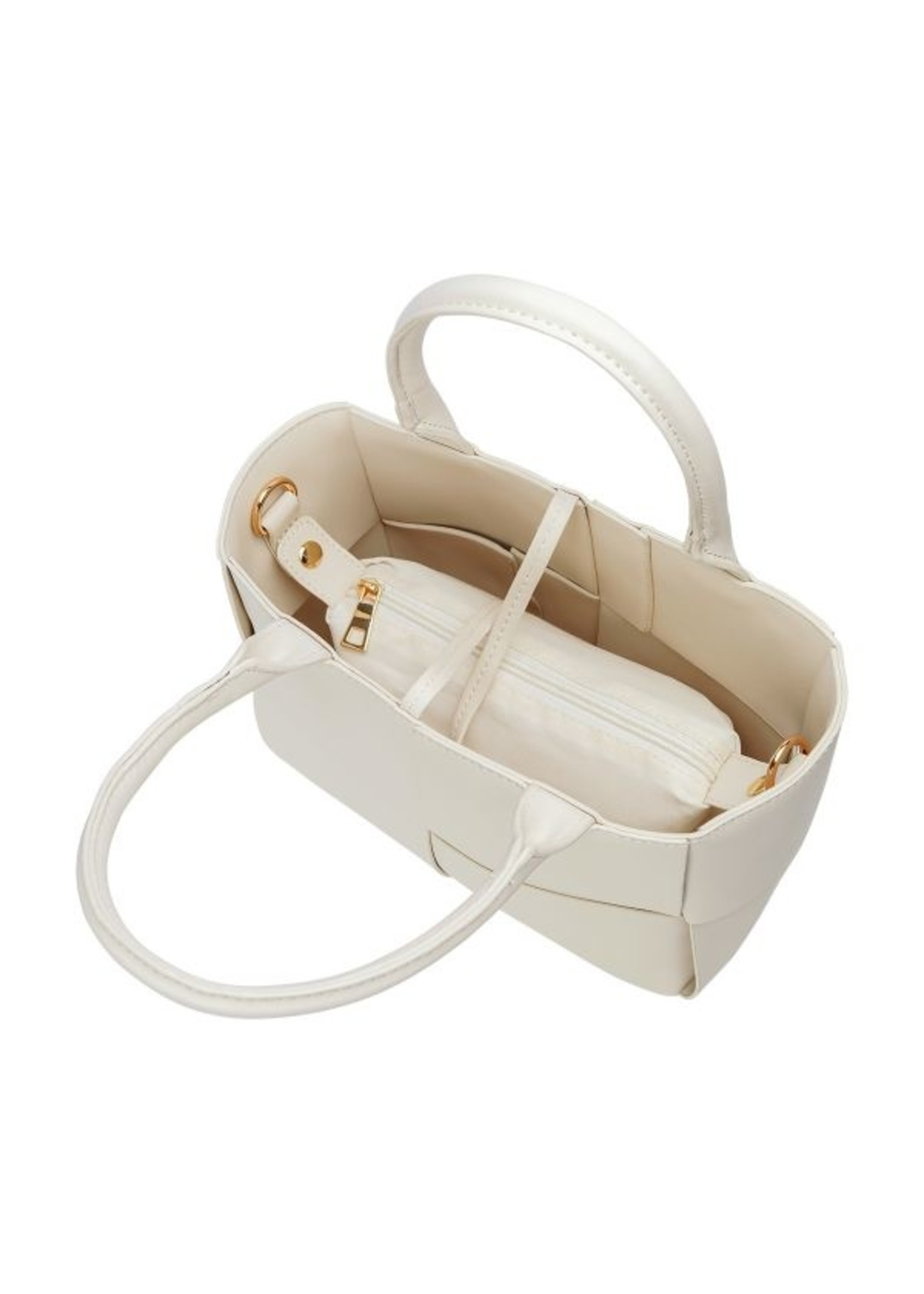 White bag met geweven look