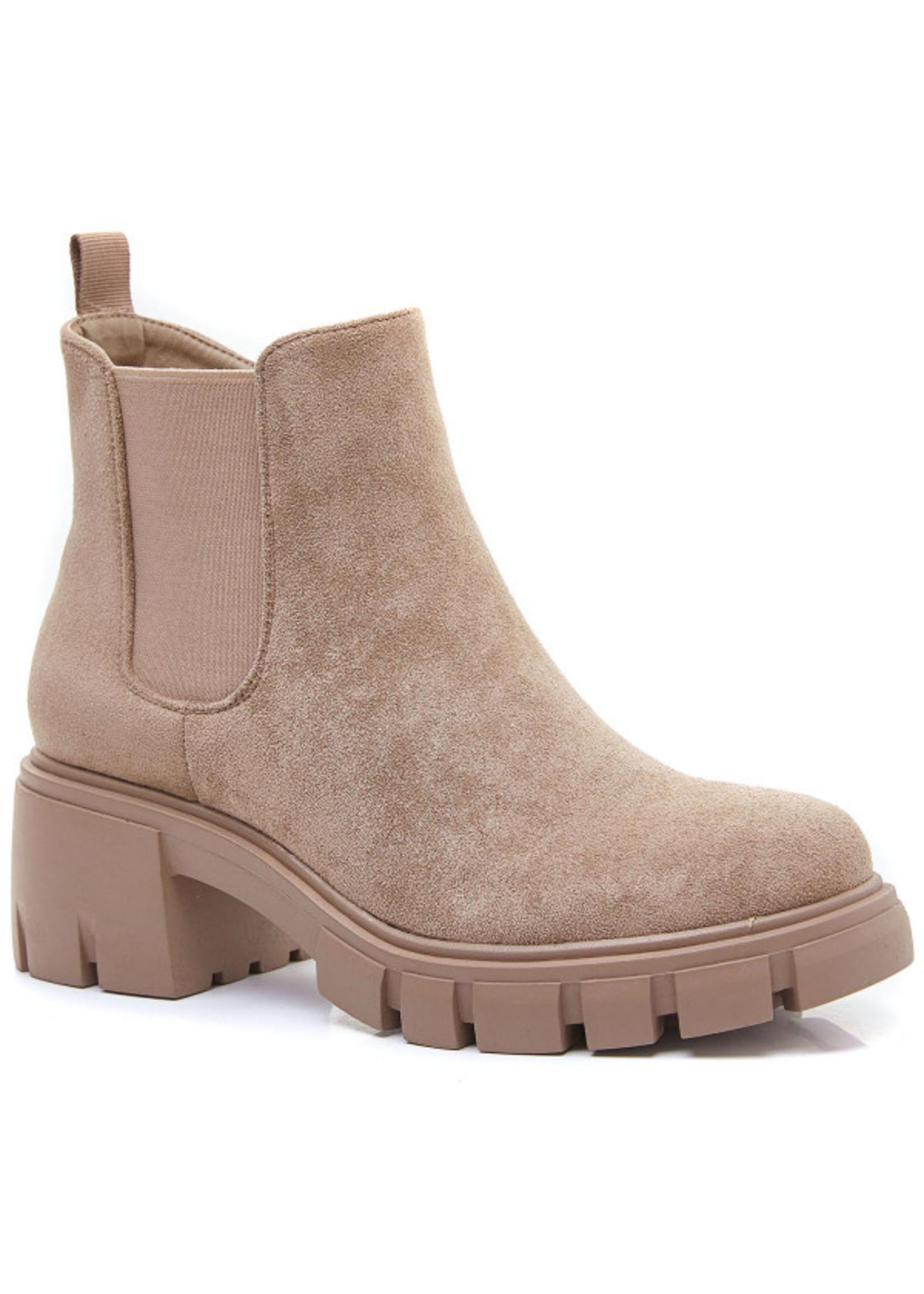 Taupe fashion boot