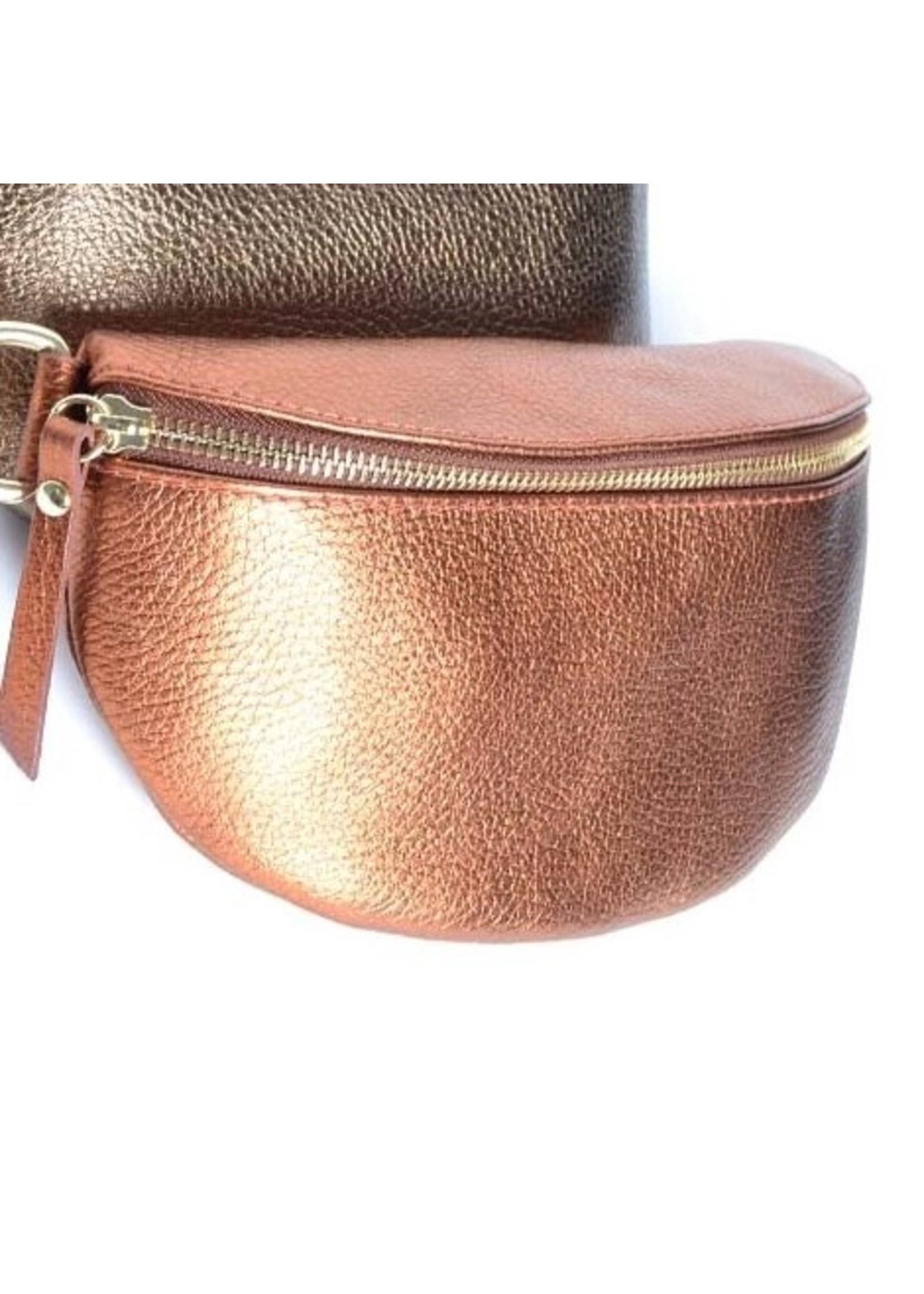 Giuliano Bum bag Metallic koper