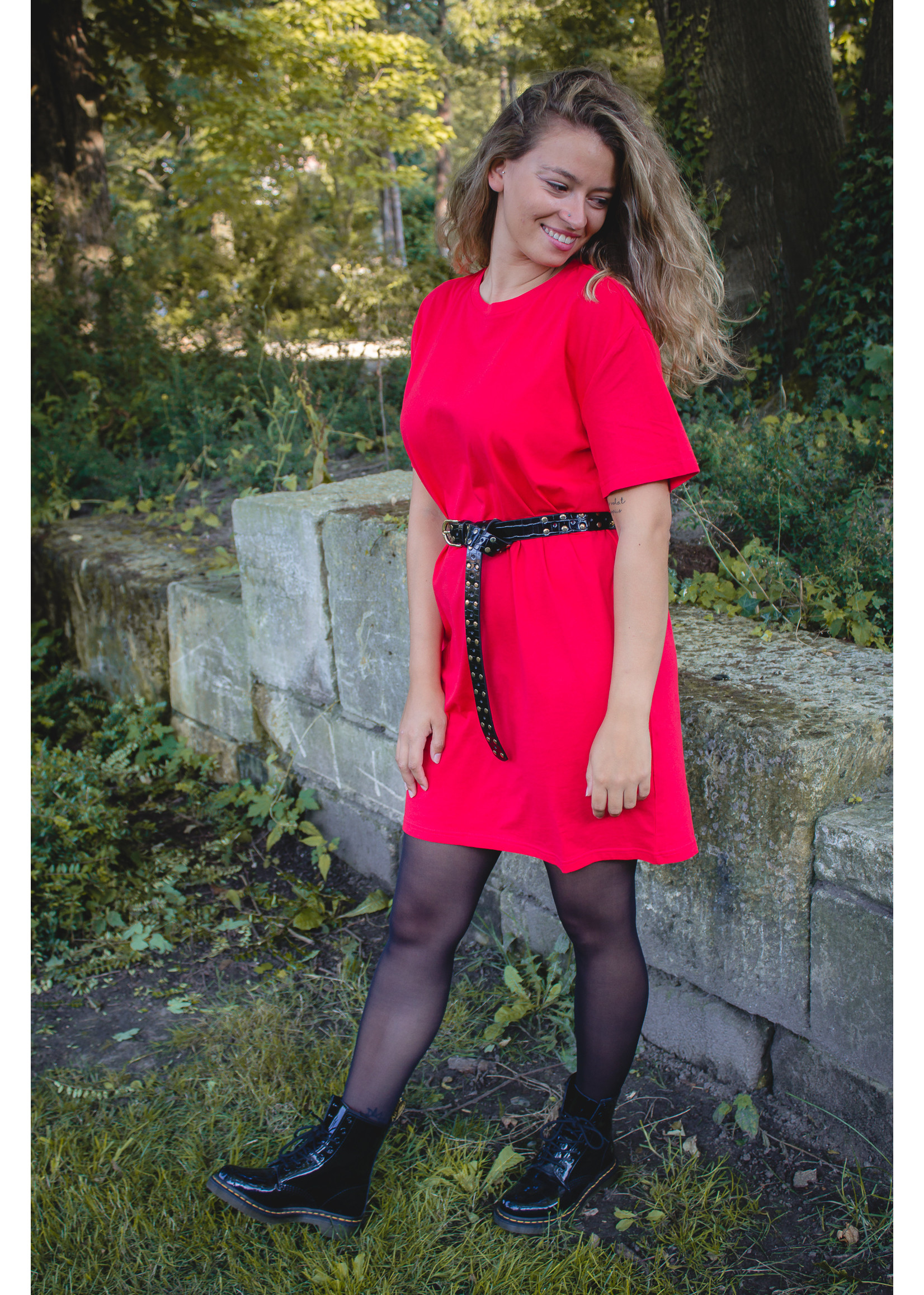 Rutandcircle Red shirt dress