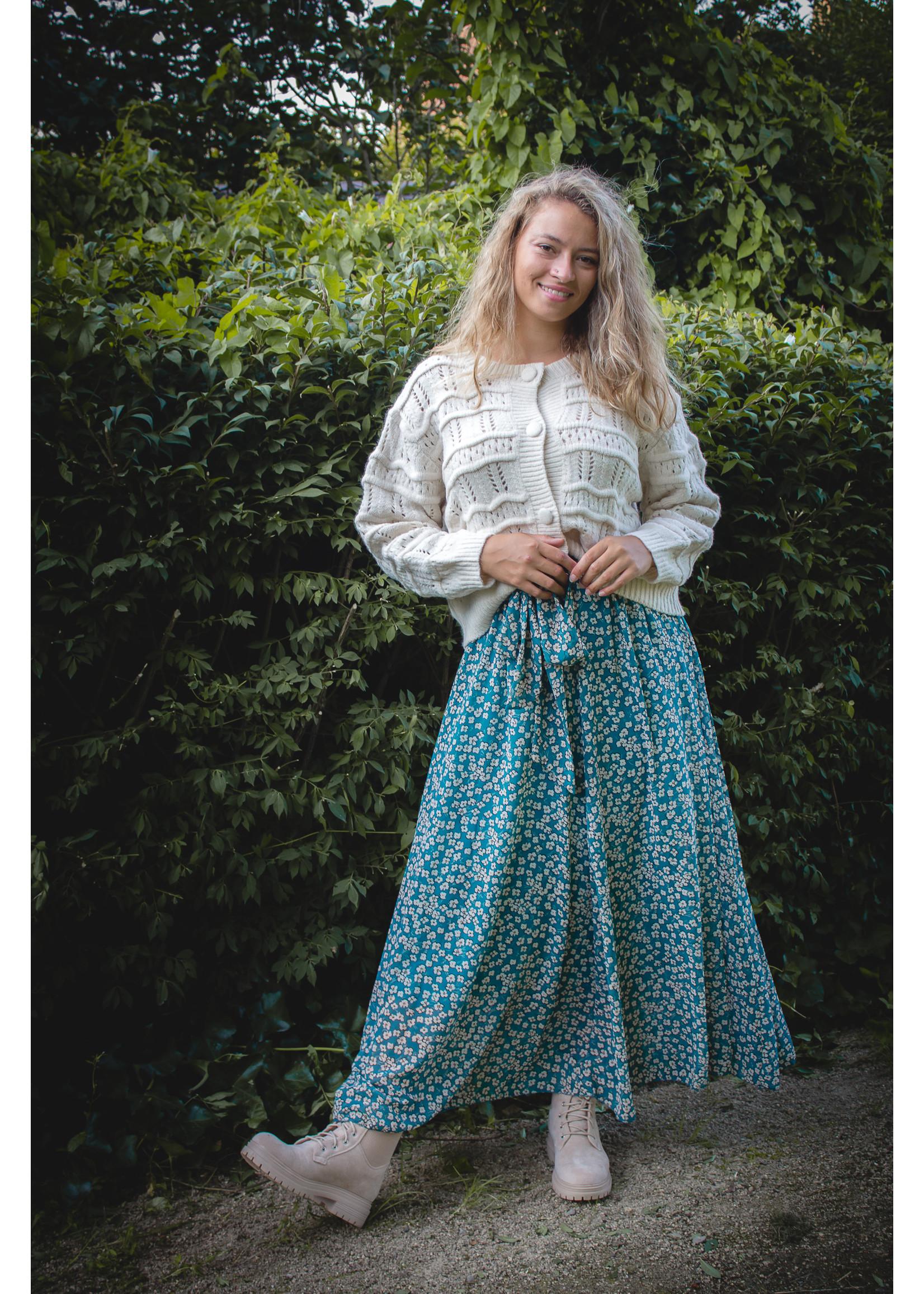 Maxi flower blue skirt