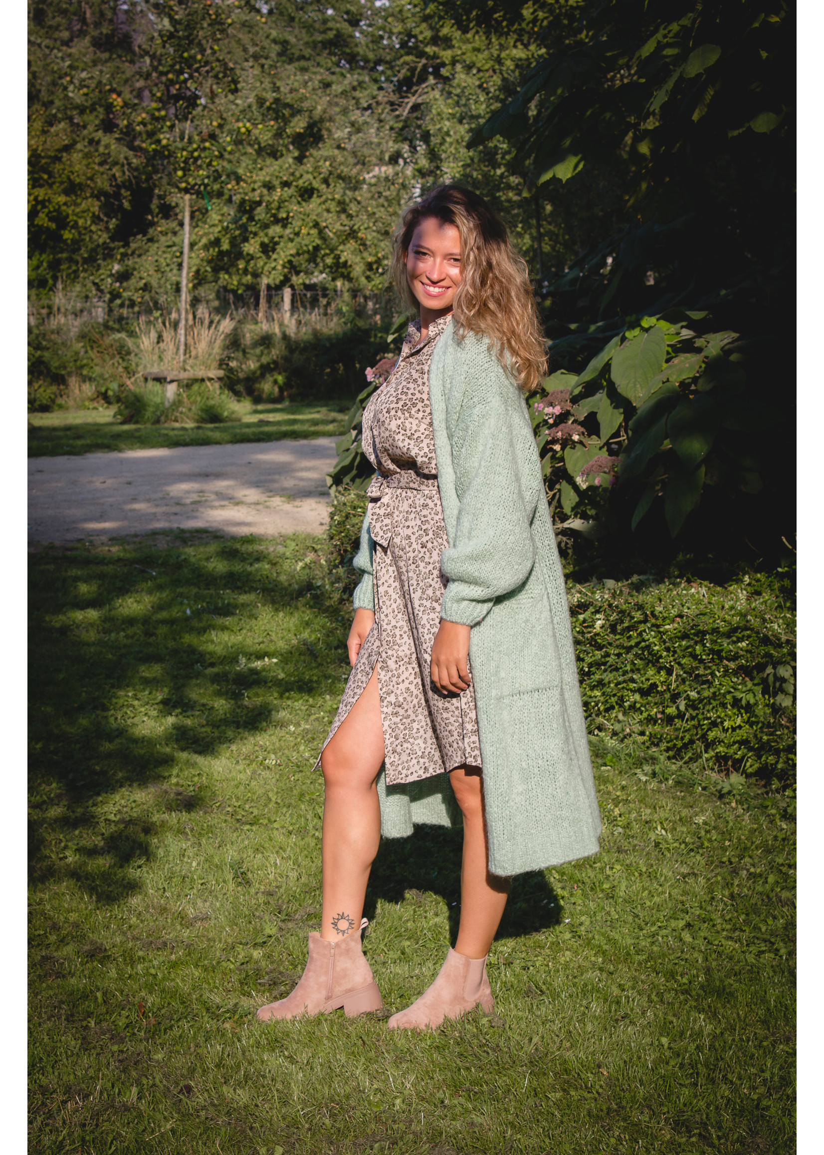 sisters point Green printed dress
