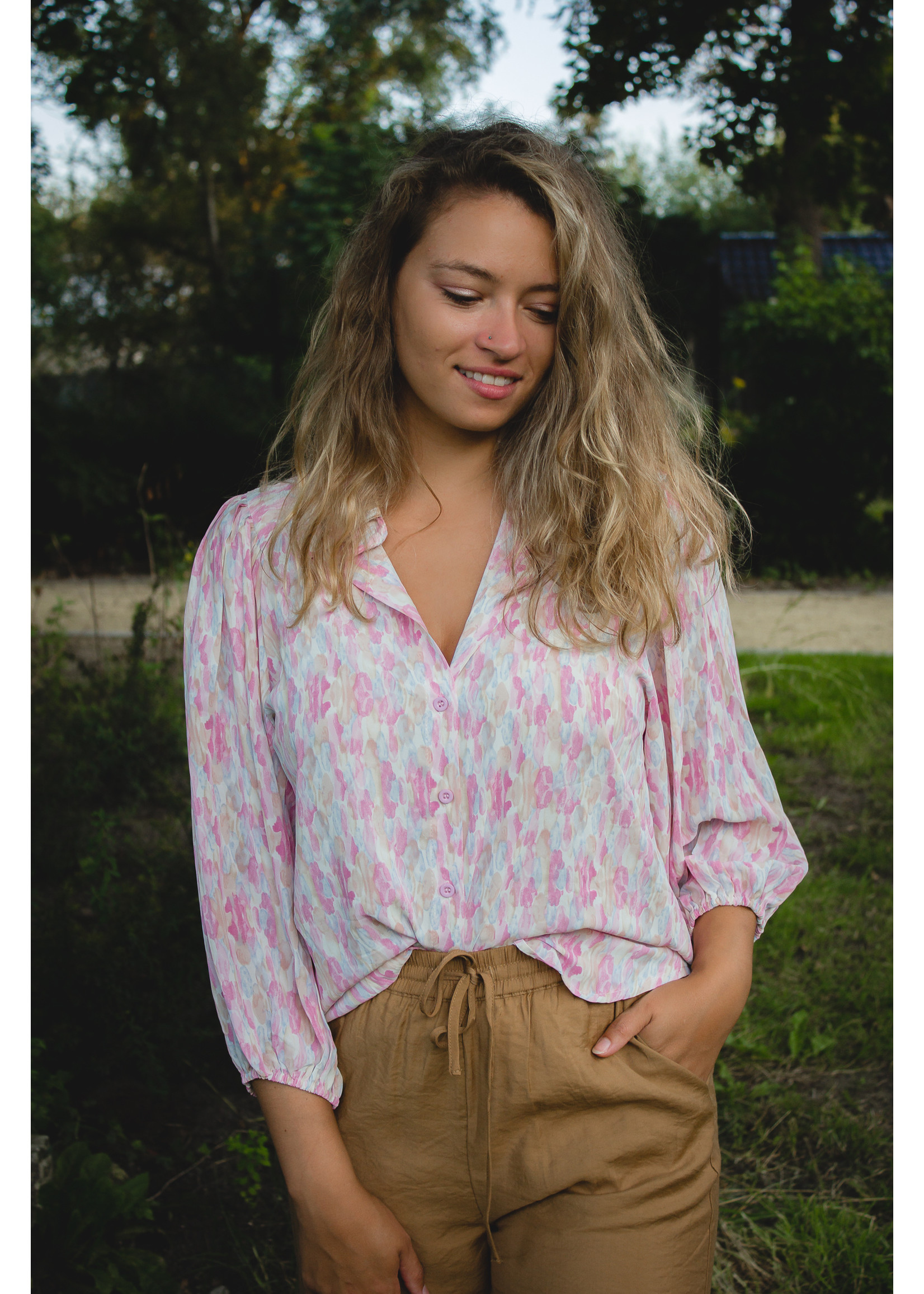 sisters point Rainbow pastel blouse