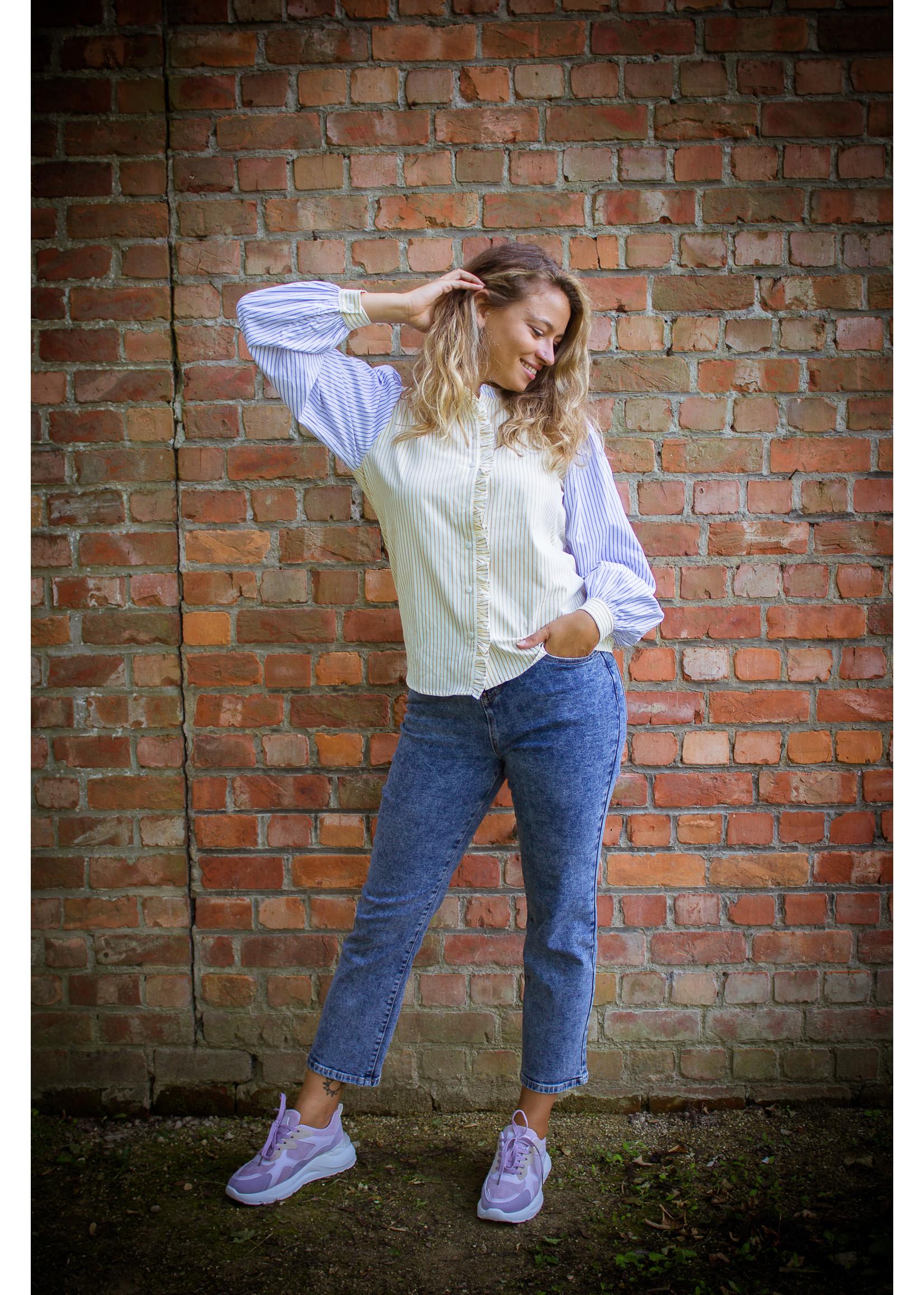 sisters point Stripe mix blouse
