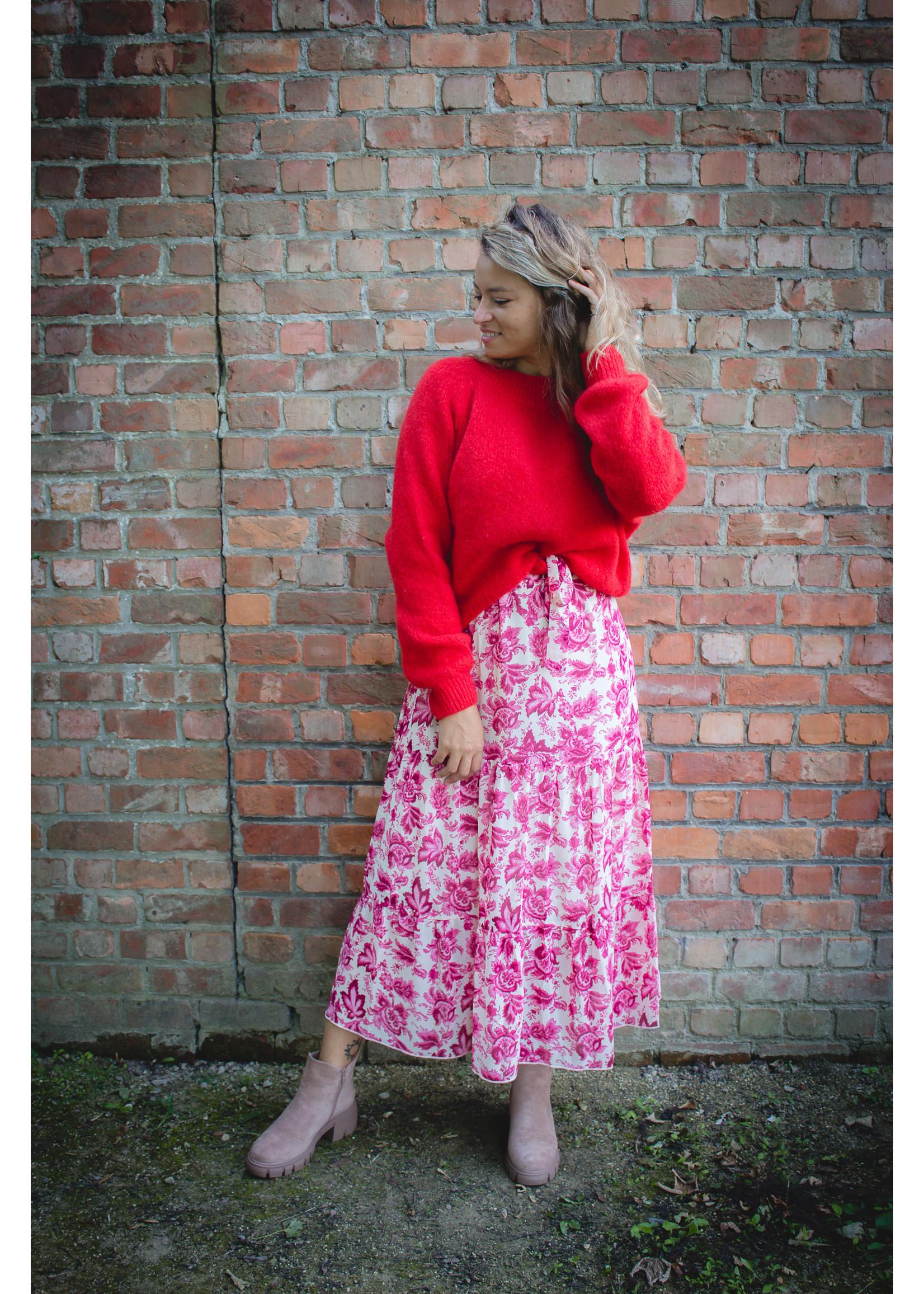 Fuchsia paisly dress