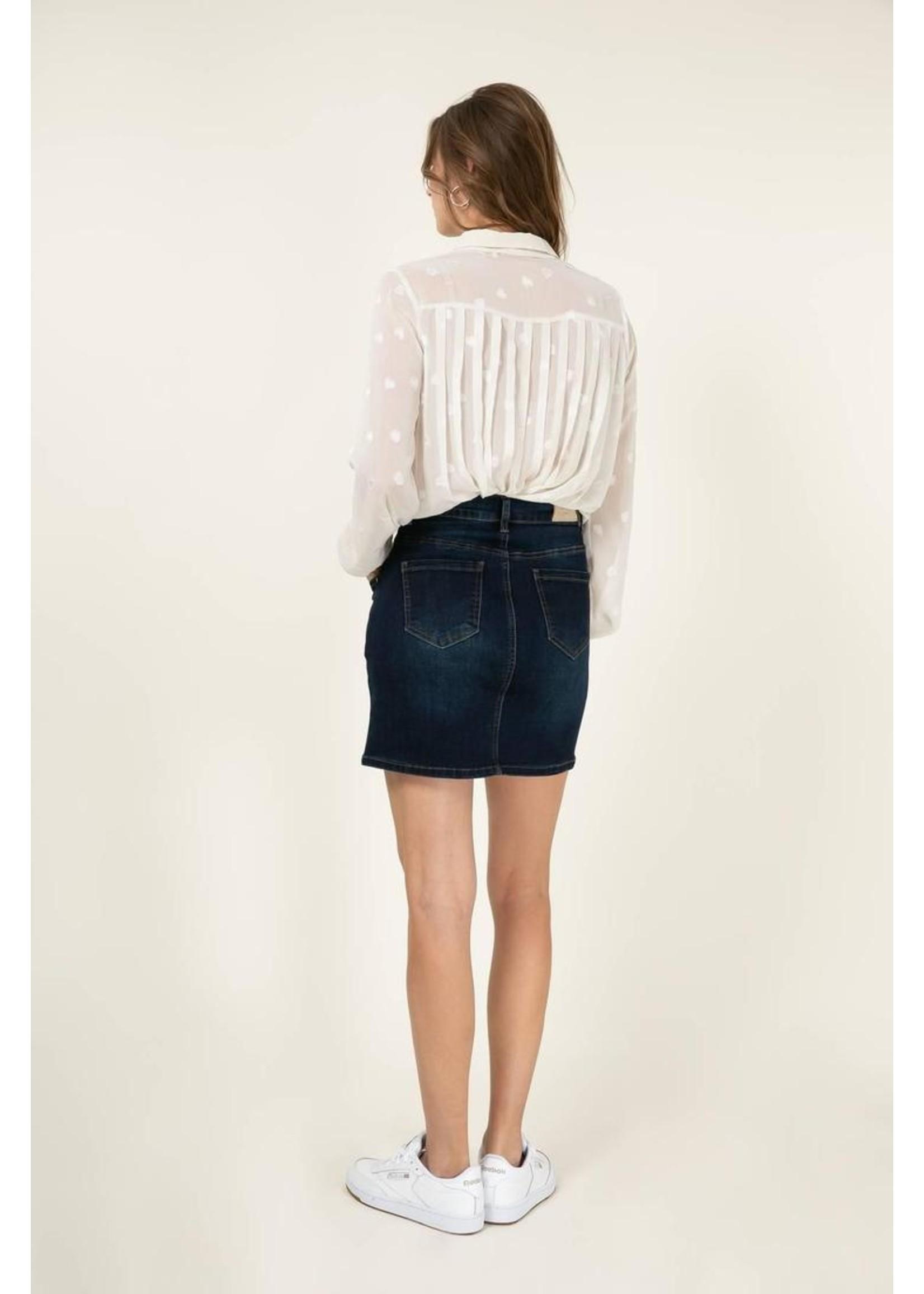 Cherry Paris Officiel Off white heart blouse