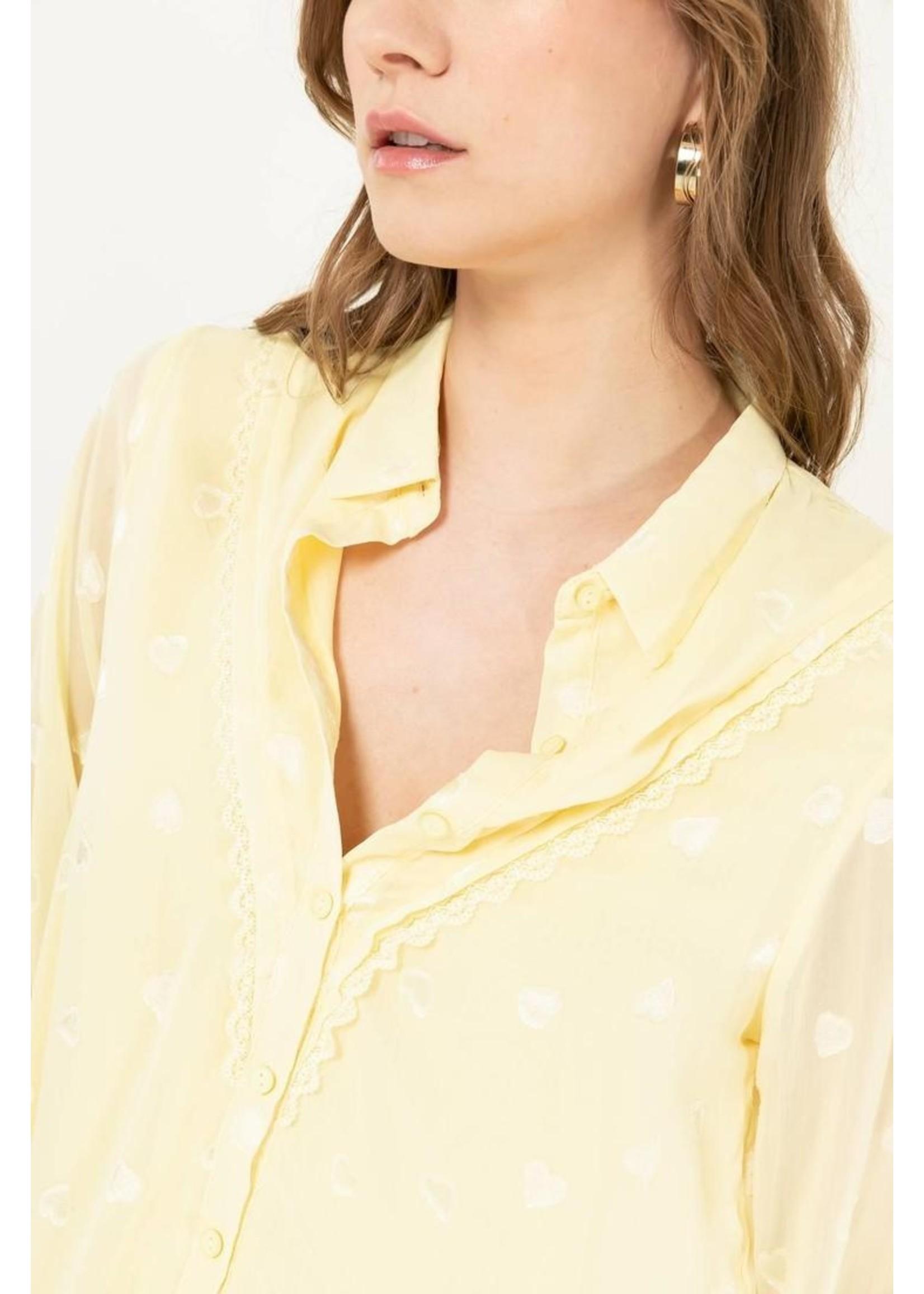 Cherry Paris Officiel Yellow heart blouse