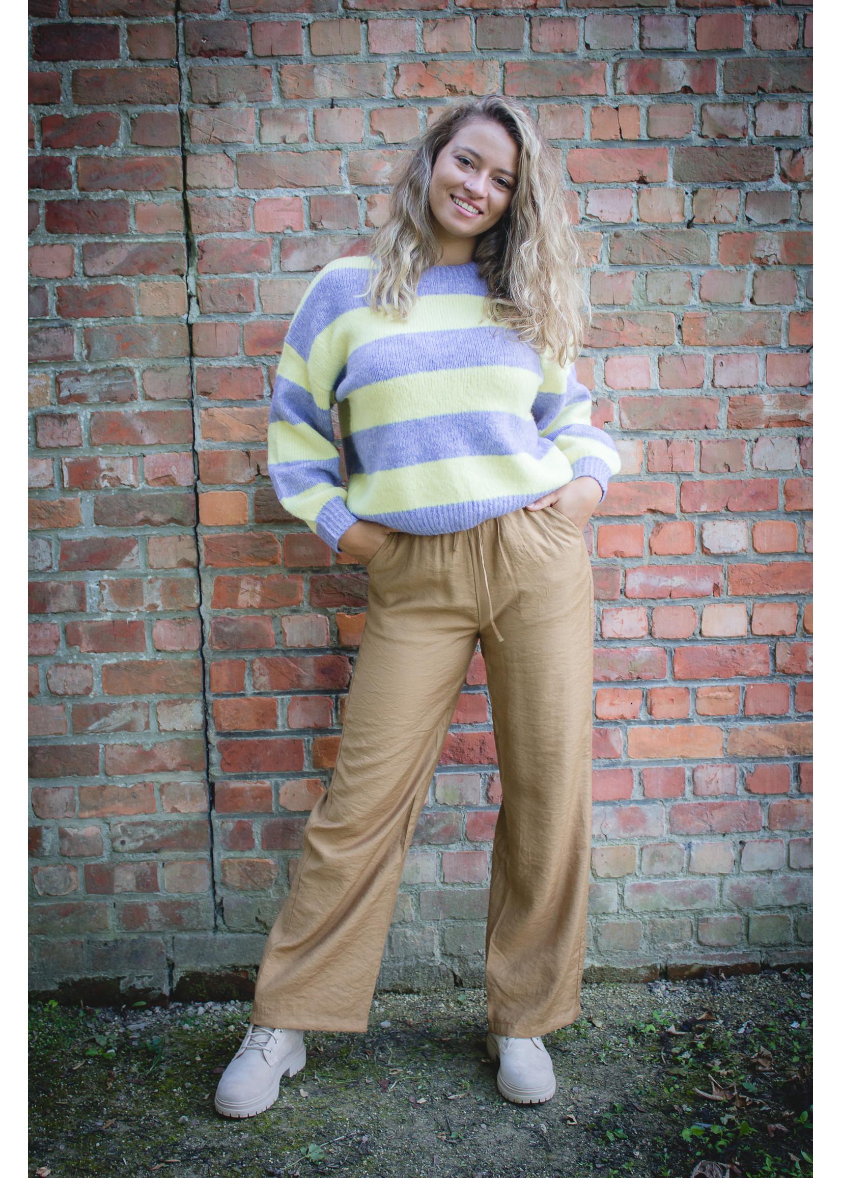 Cherry Paris Officiel Stripe lila/yellow sweater