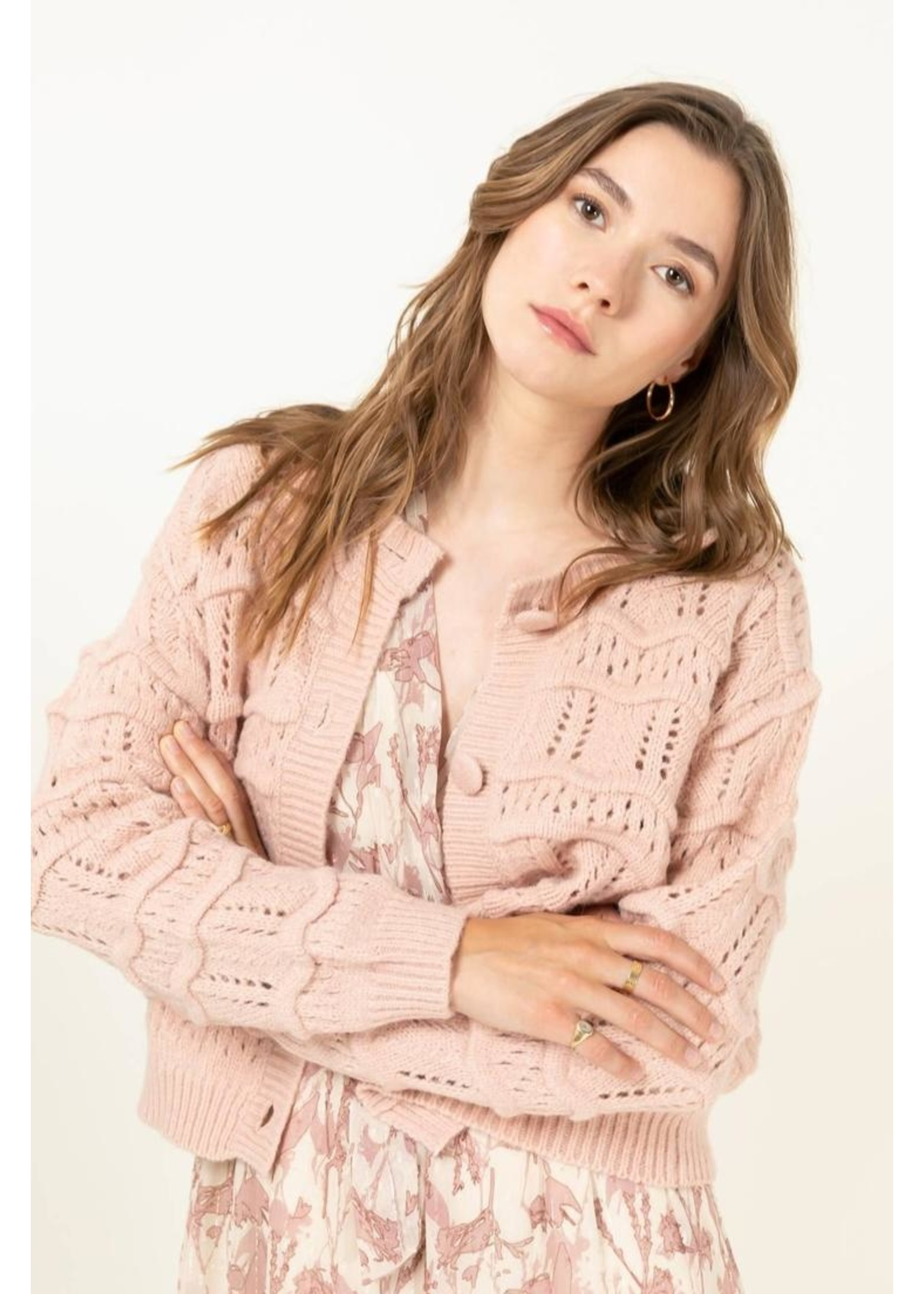 Cherry Paris Officiel Gilet romantic pink