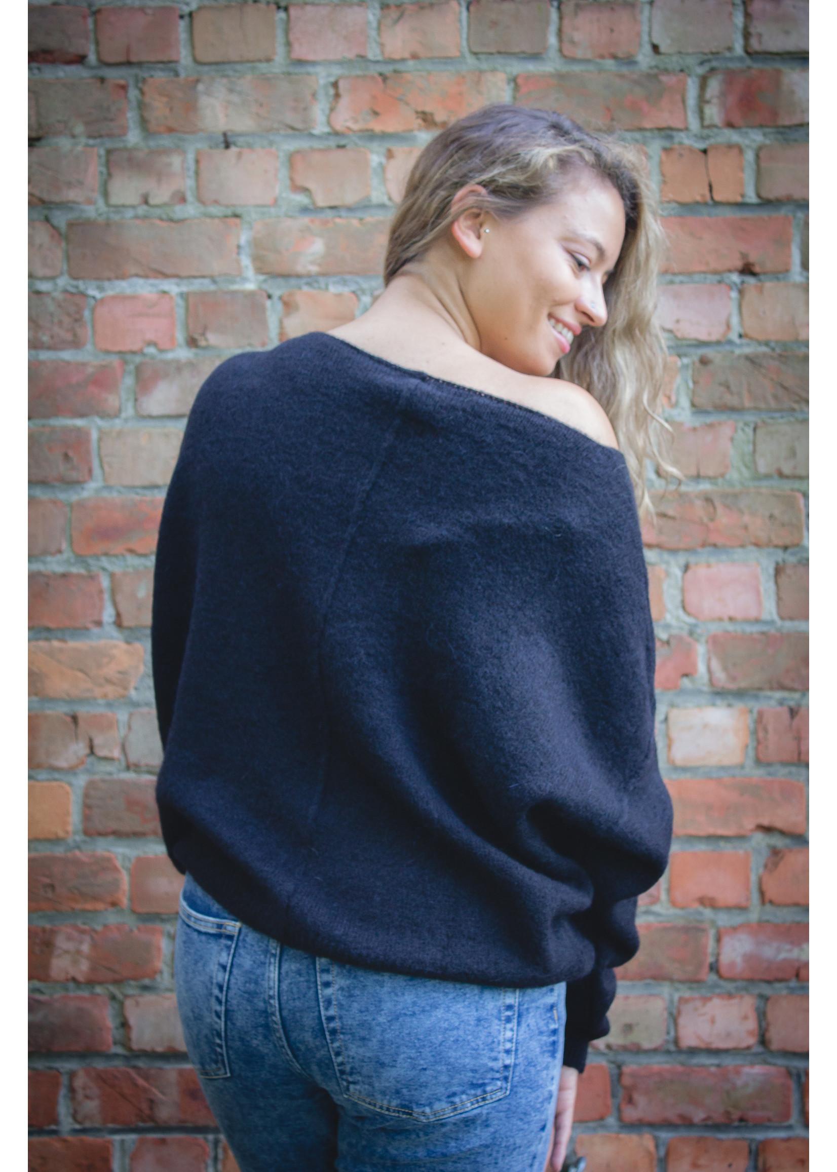 Tierra Di sienna Black autumn knit