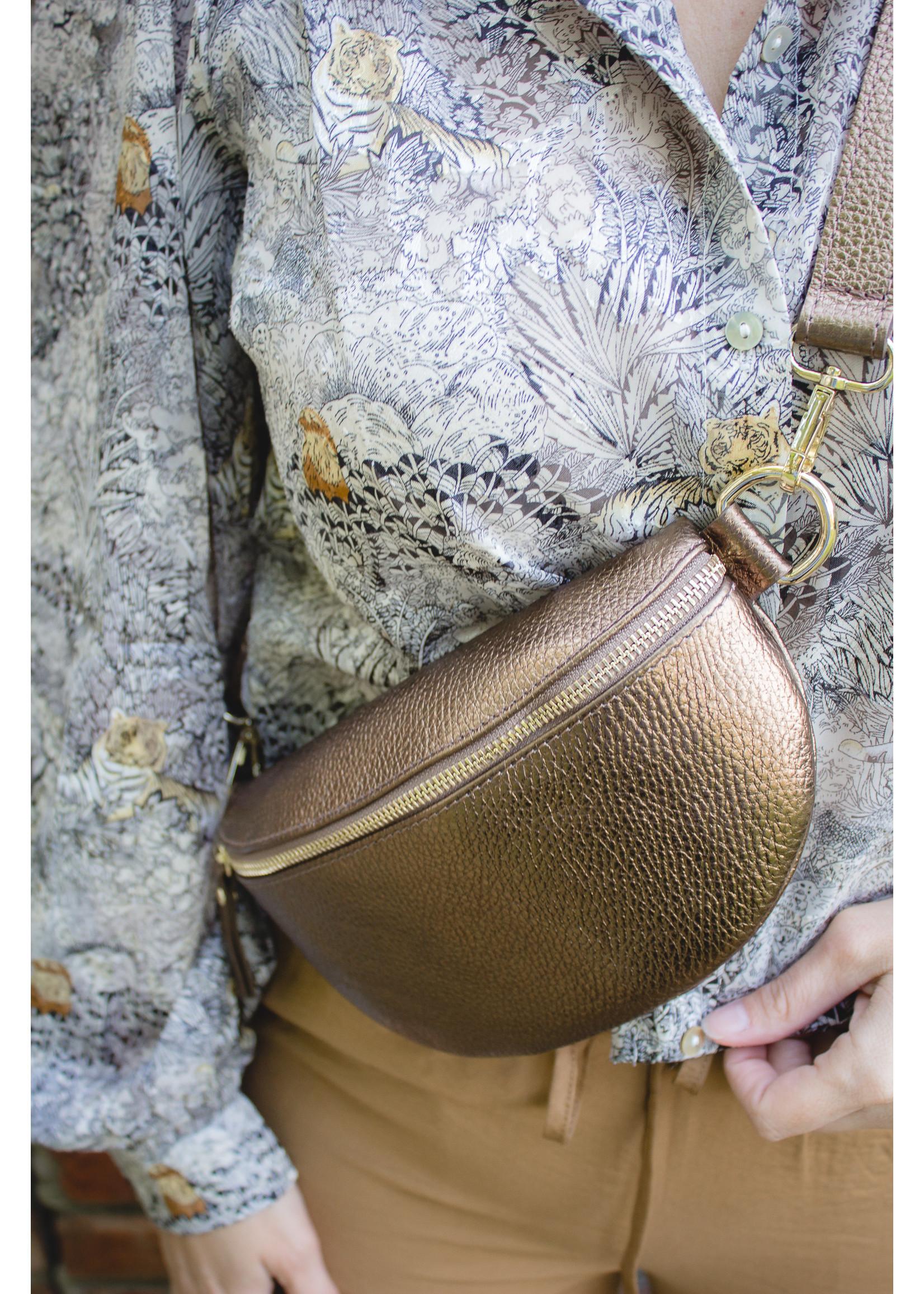 Giuliano Bum bag Metallic brons