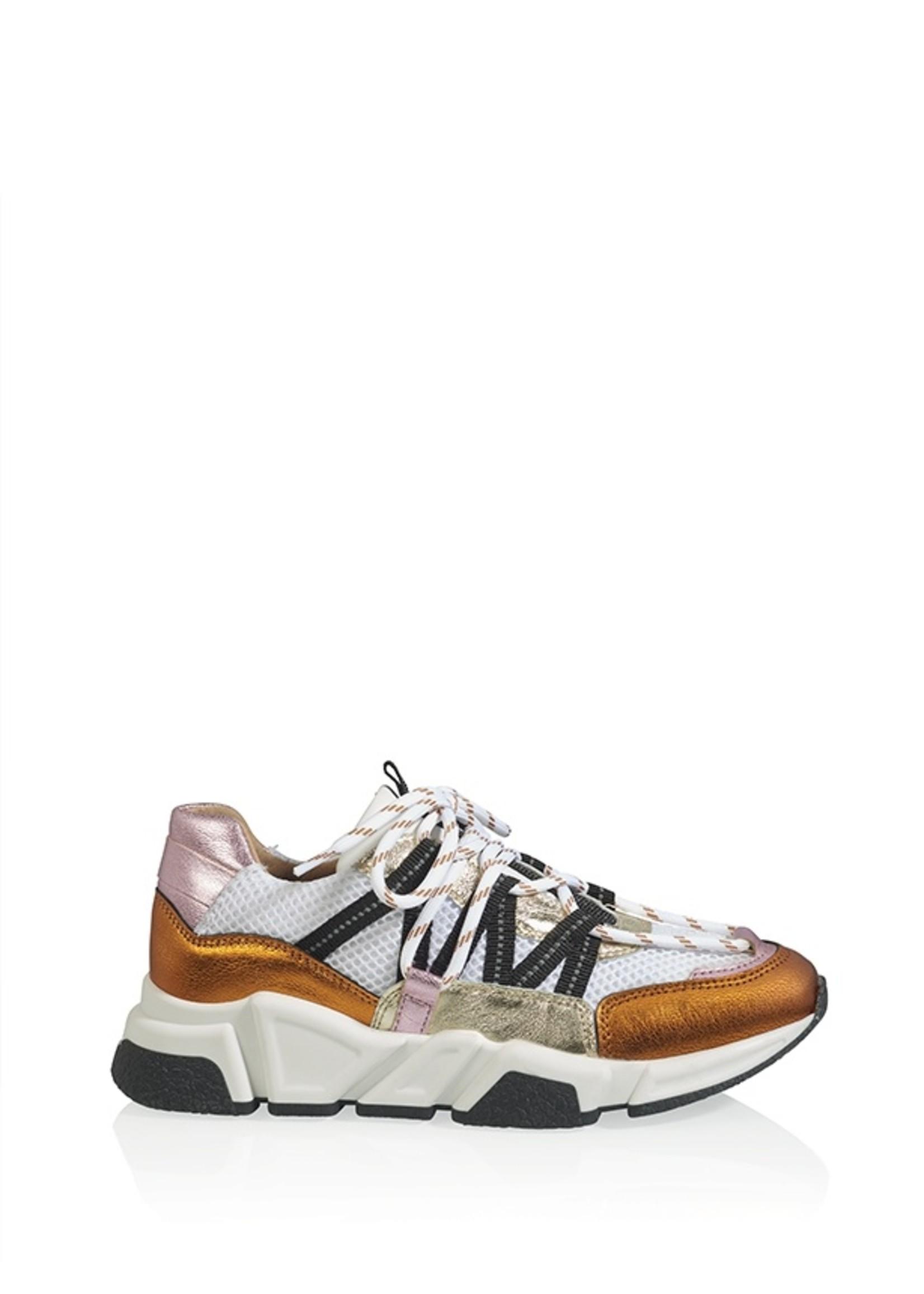 Sneaker white/orange/pink