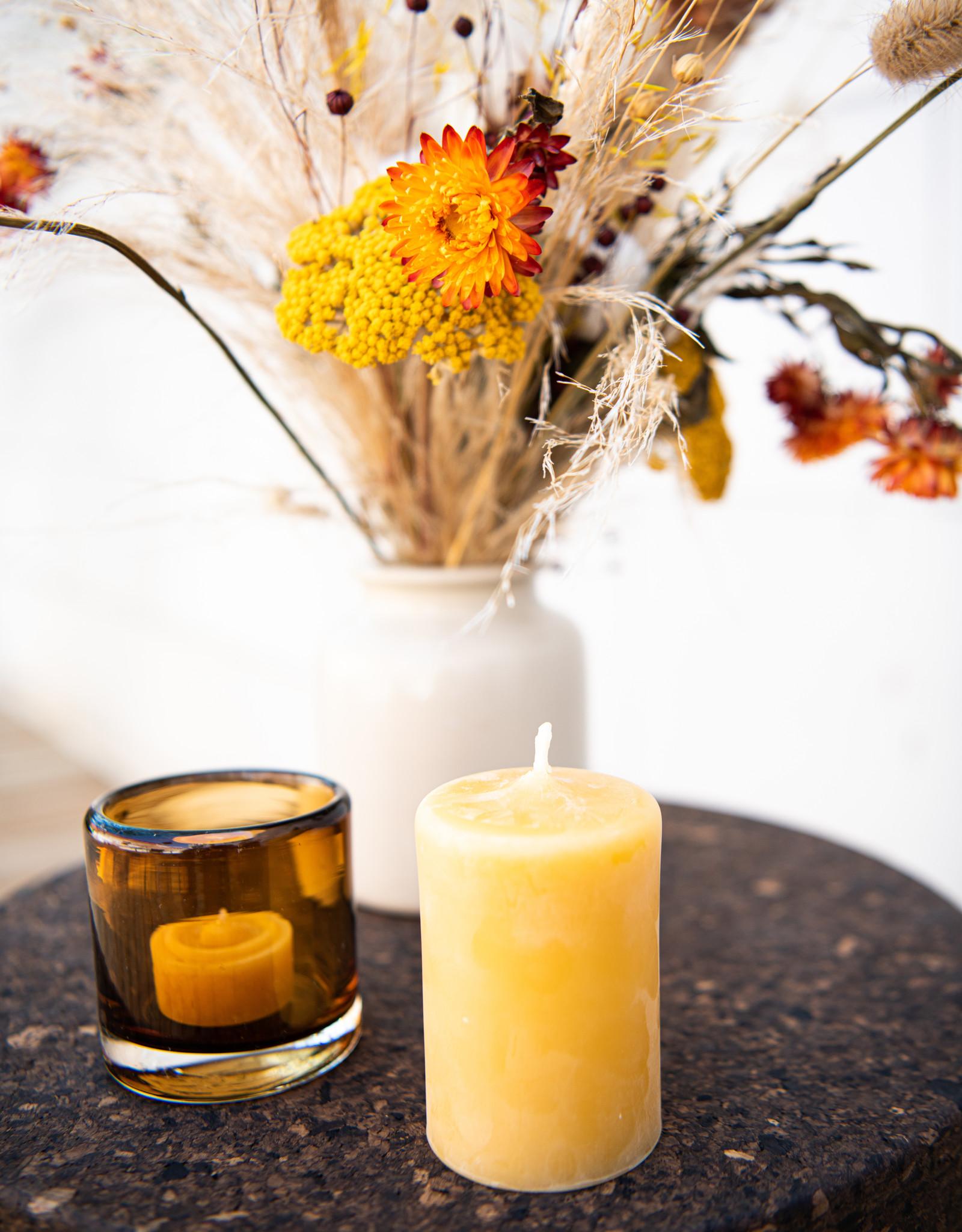 honeybeecandles Round beeswax candle