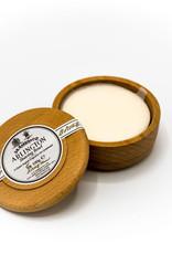 Shaving soap in wooden bowl