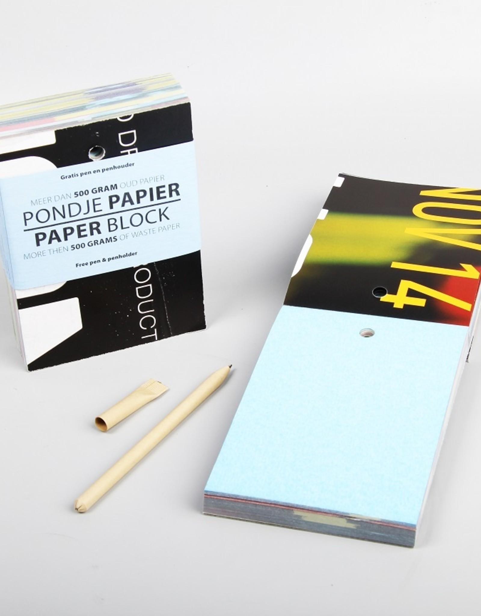 Notitieblokje - Pondje papier