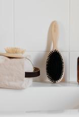 Hair brush with wild boar hair