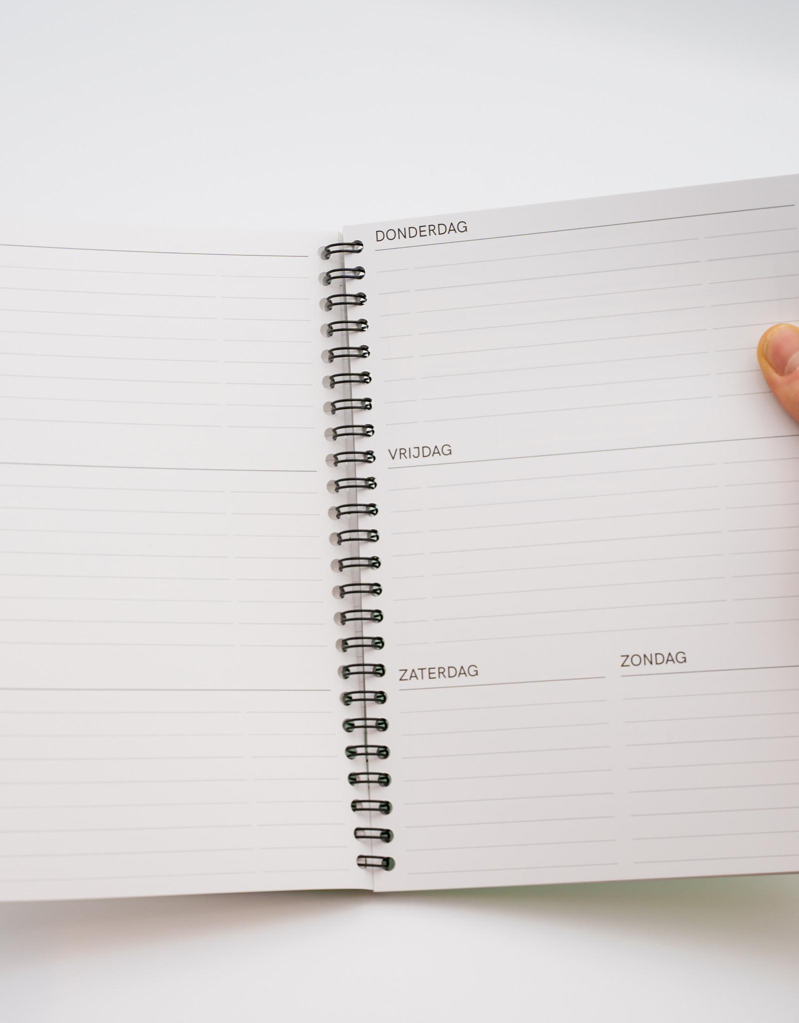 Herbruikbare weekplanner