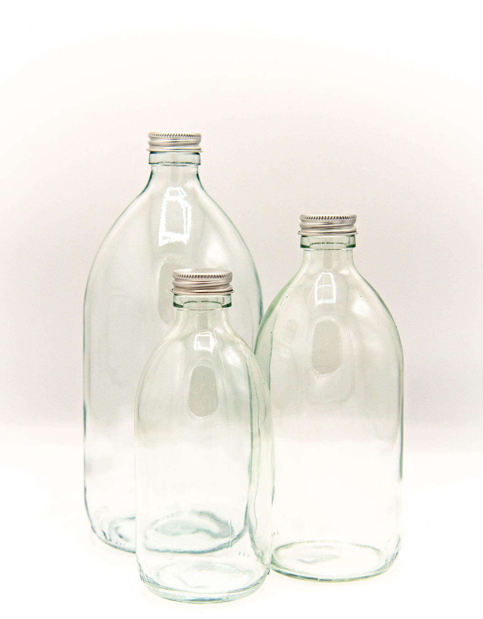 Kuishi Glass refill bottles with aluminium screw cap