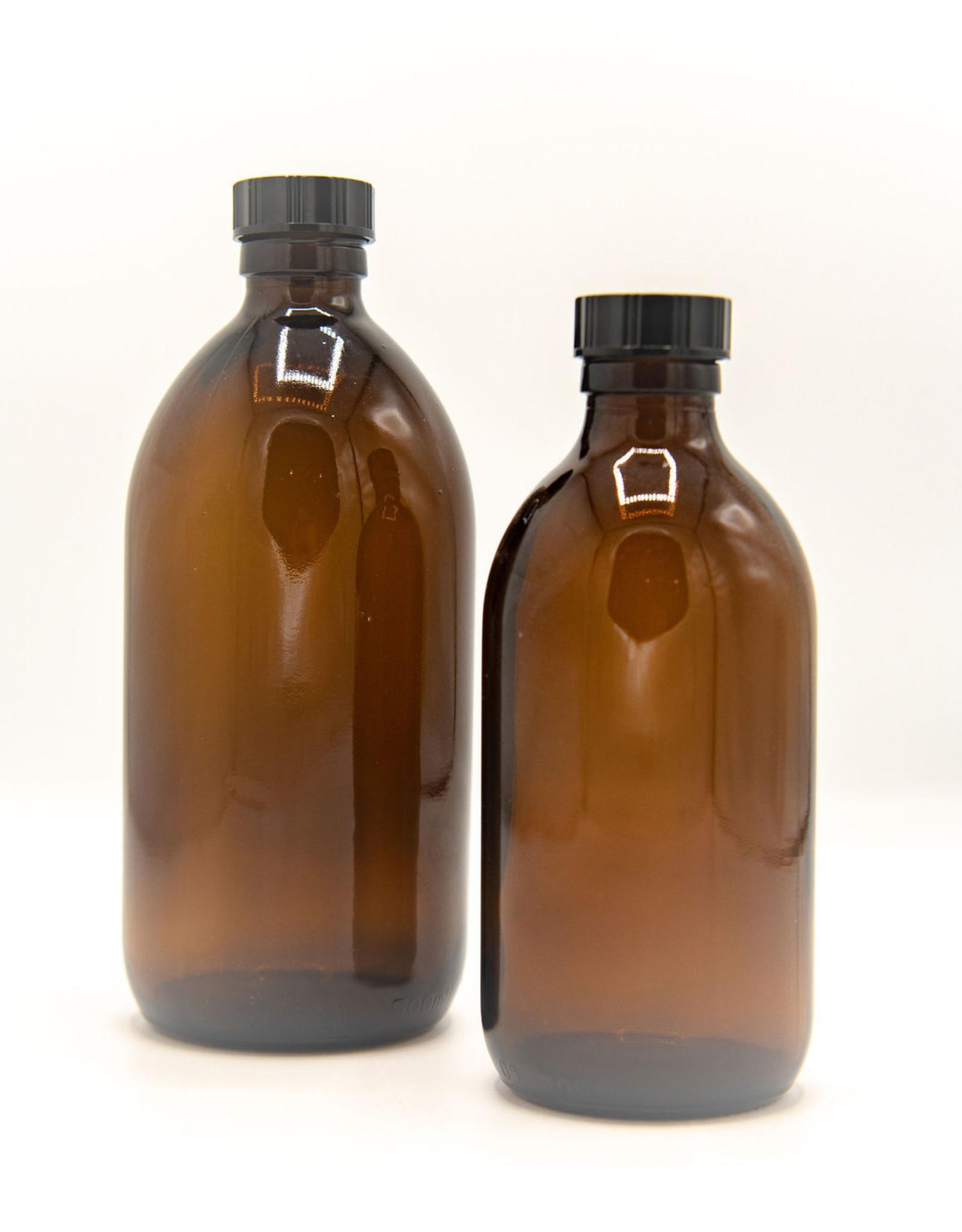 Kuishi Glazen medicijnflesjes Amberkleurig