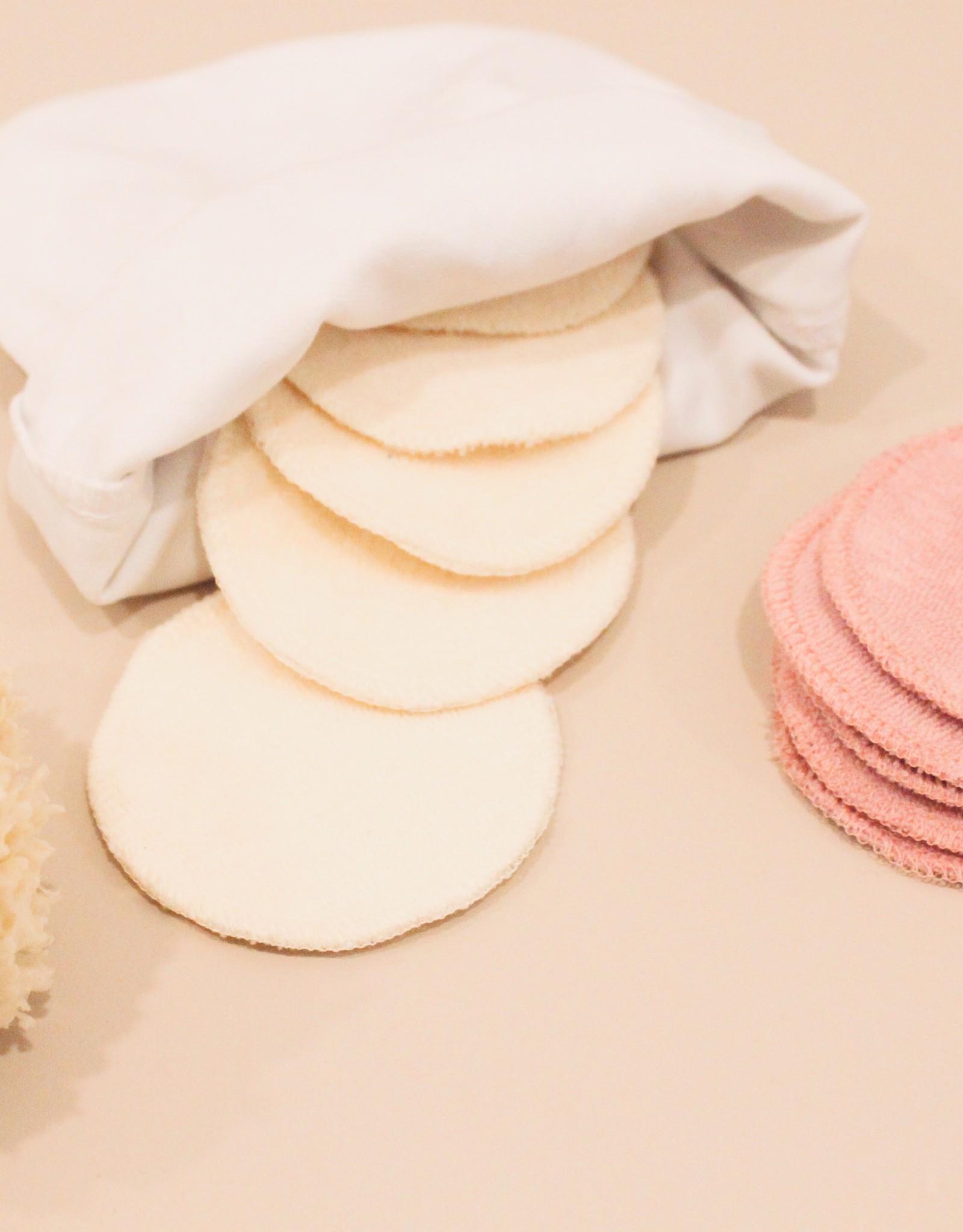 Facial pads white/pink 5 pc