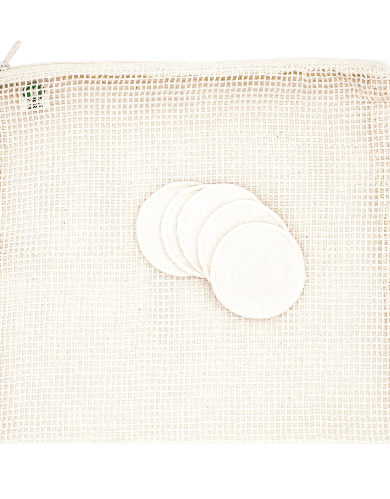 Facial pads 5 pc with washing bag