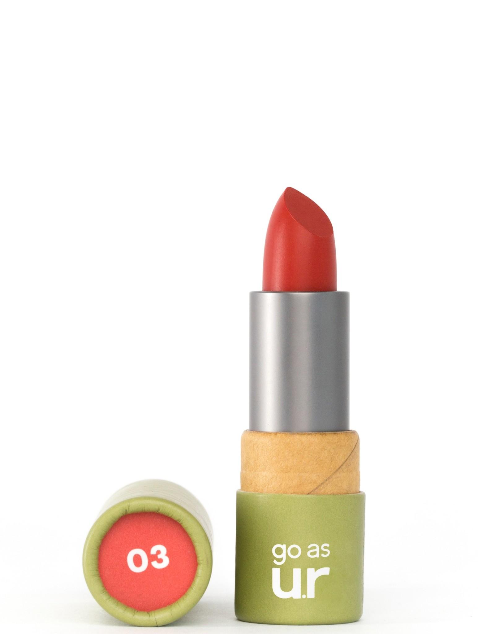 Go as ur Vegan Lipstick Rebellious Red