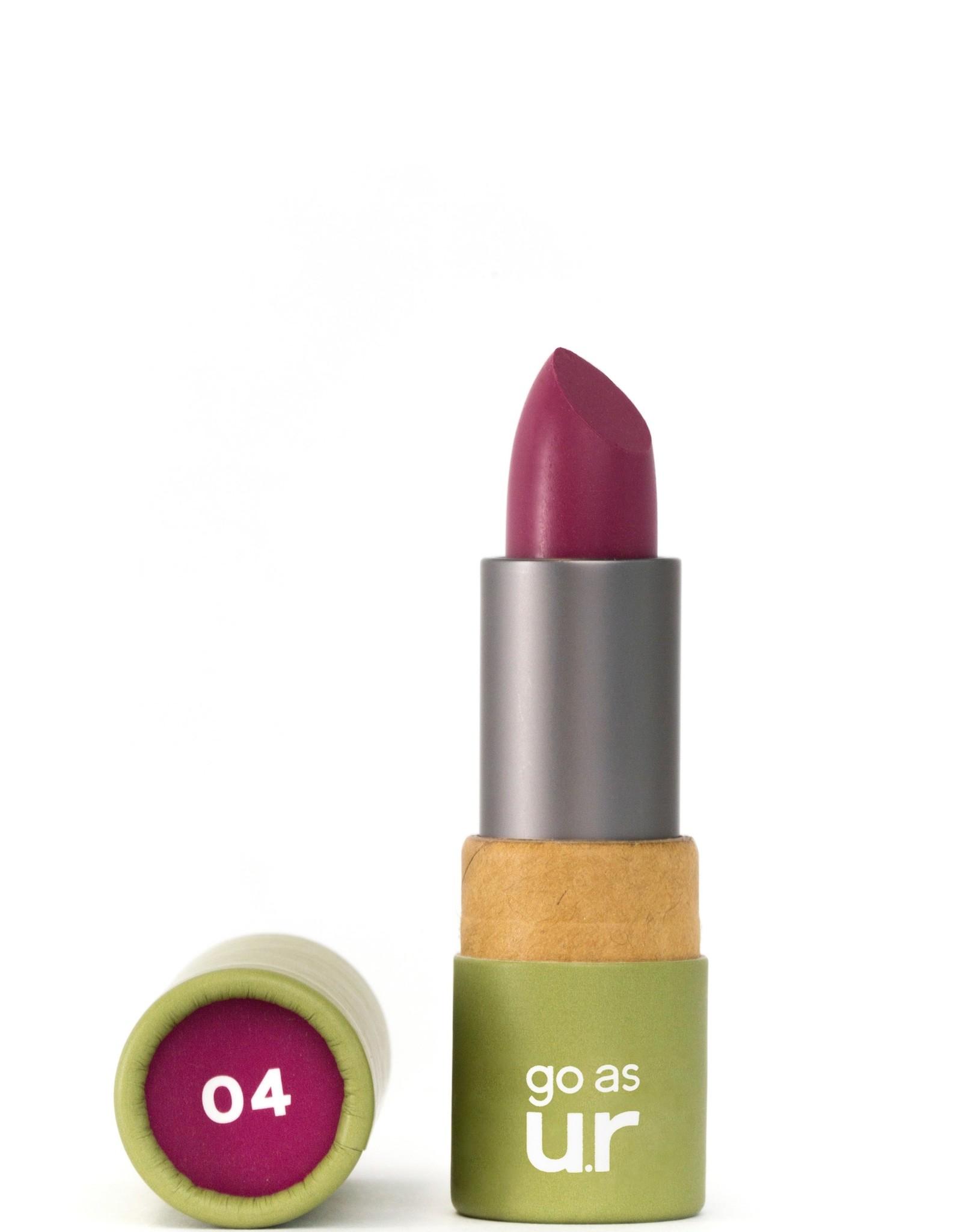 Go as ur Vegan Lippenstift Deep Fuchsia