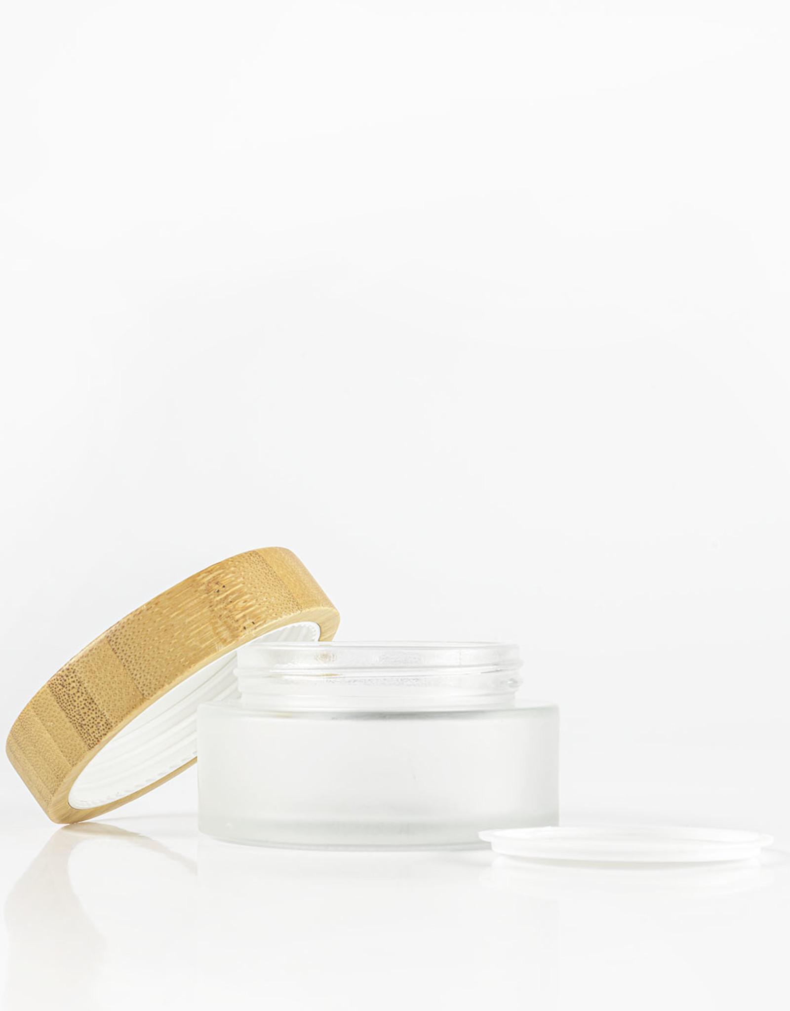 MarionMaakt Glazen potje met bamboe deksel