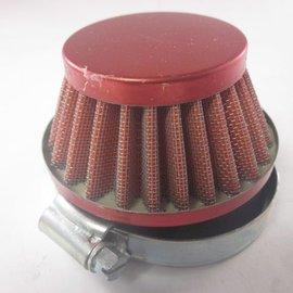 Sendai 58mm Power ufo luchtfilter chroom/rood