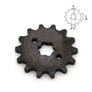 Sendai 4-takt Voortandwiel type: 420 ketting 17mm as - Copy - Copy - Copy