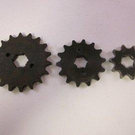 Sendai 17 tands Voortandwiel type: 420 ketting 20mm as