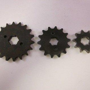 Sendai 16 tands Voortandwiel type: 428 ketting 17mm as