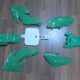 Sendai 4-takt Pitbike/Cross Kappenset 110cc/125cc klein GROEN
