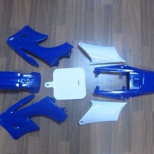 Sendai 4-takt Pitbike/Cross Kappenset 110cc/125cc klein BLAUW - Copy