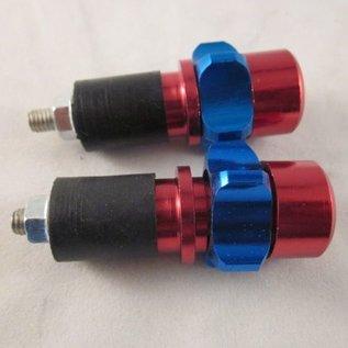 Sendai Stuurdoppen aluminium rood/blauw ster